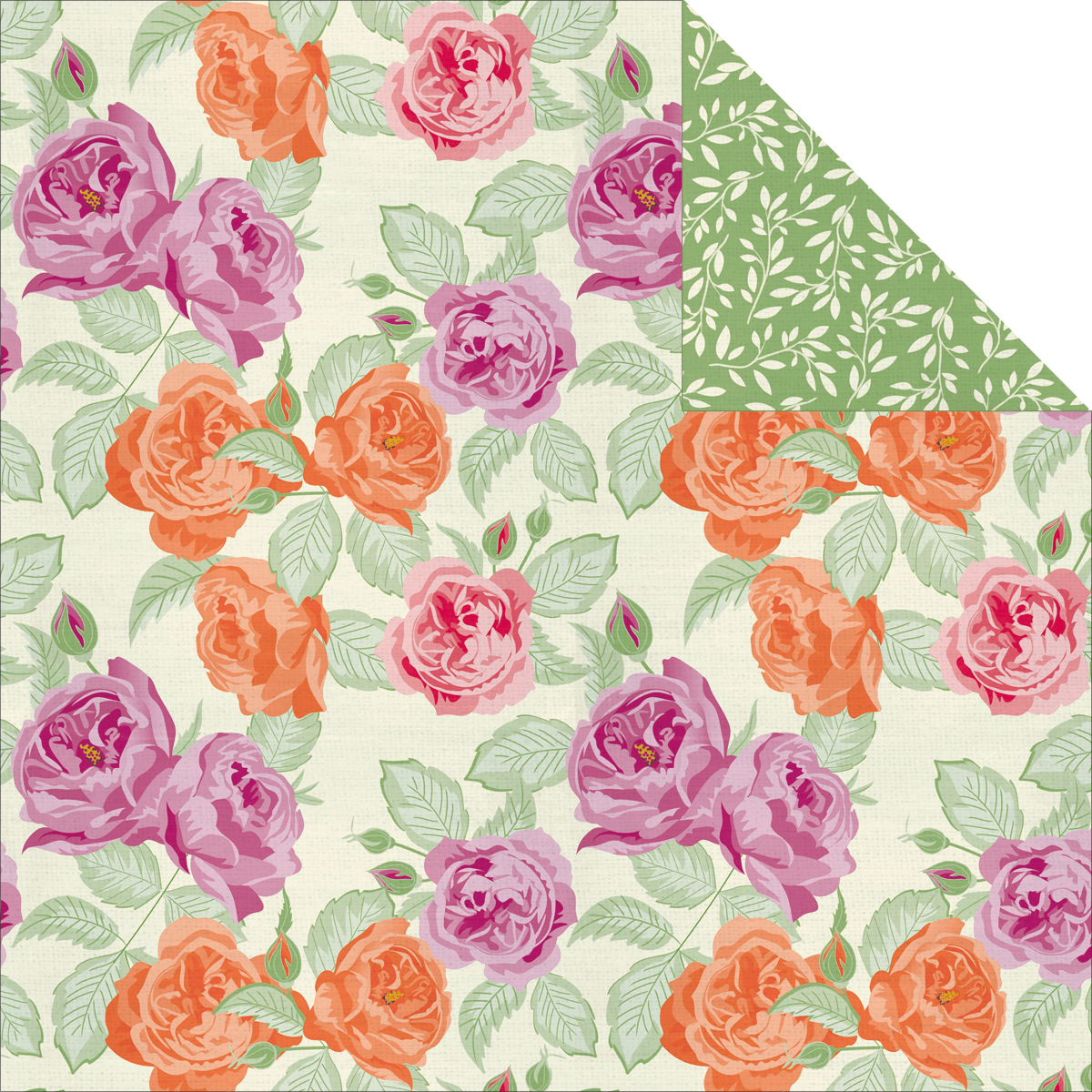 Flora Delight Double-Sided Paper 12X12-Euphoria