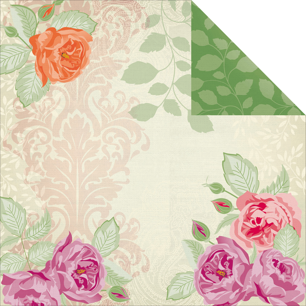 Flora Delight Double-Sided Paper 12X12-Chique