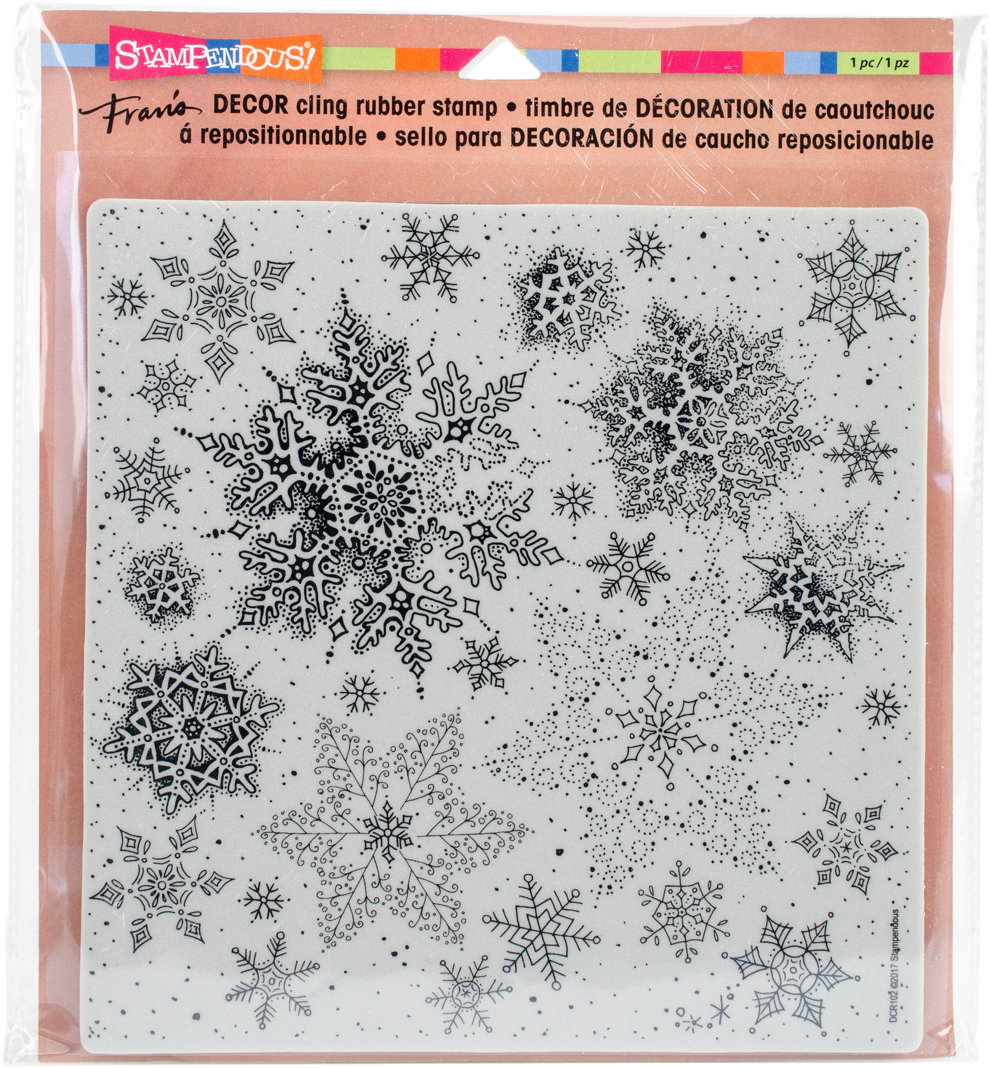 Stampendous - Snowflakes Cling Stamp