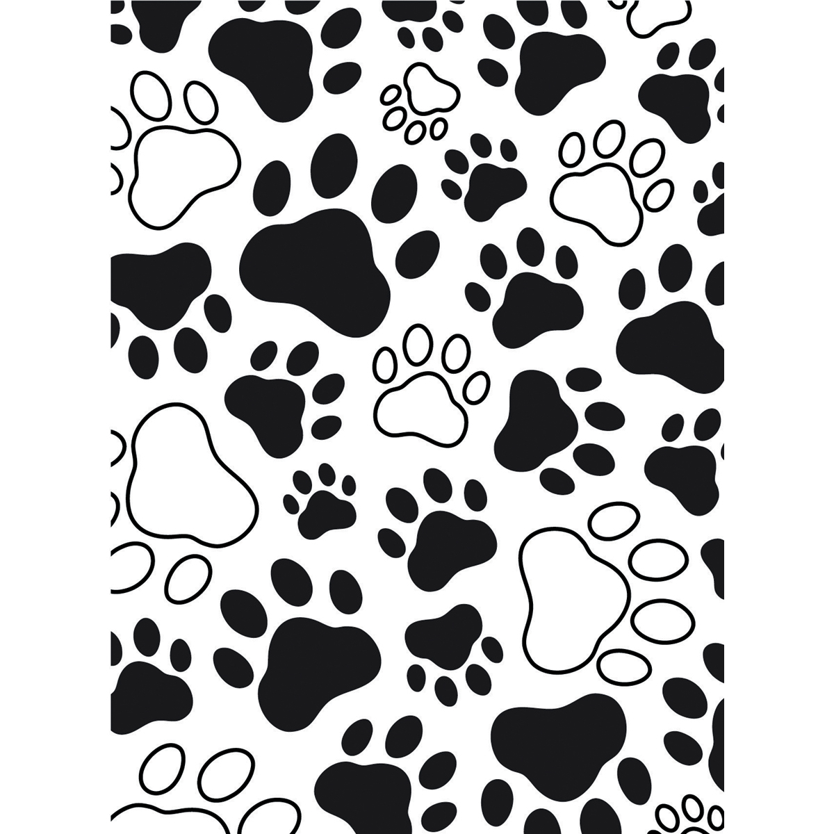 Embossing Folder 4.25X5.75-Paw Print Background