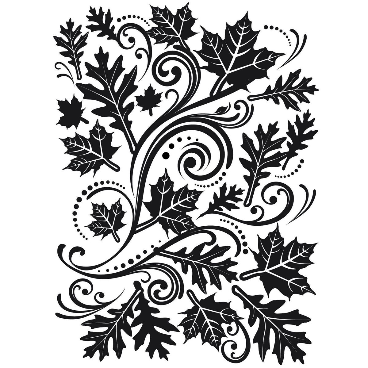 Embossing Folder 4.25X5.75-Fall Leaf Background