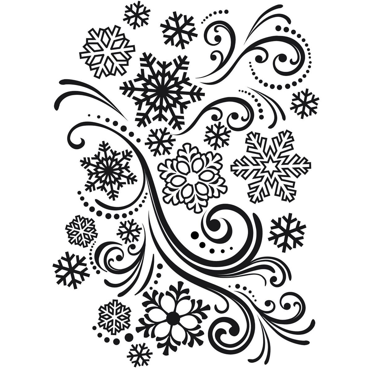 Darice snowflake swirl