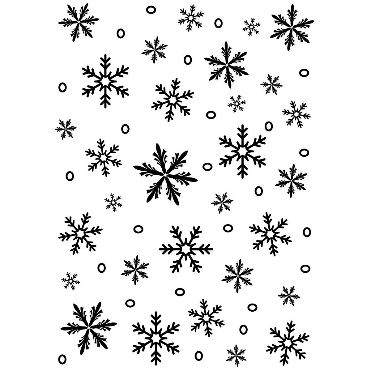 Embossing Folder Background 5X7-Snowflake