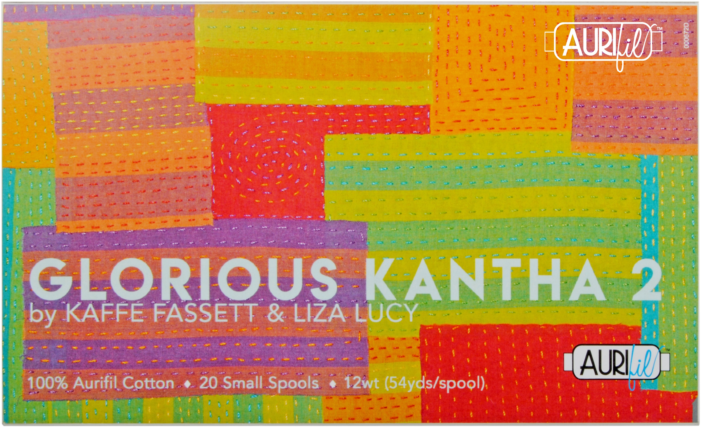 Aurifil Designer Thread Collection-Glorious Kantha By Kaffe