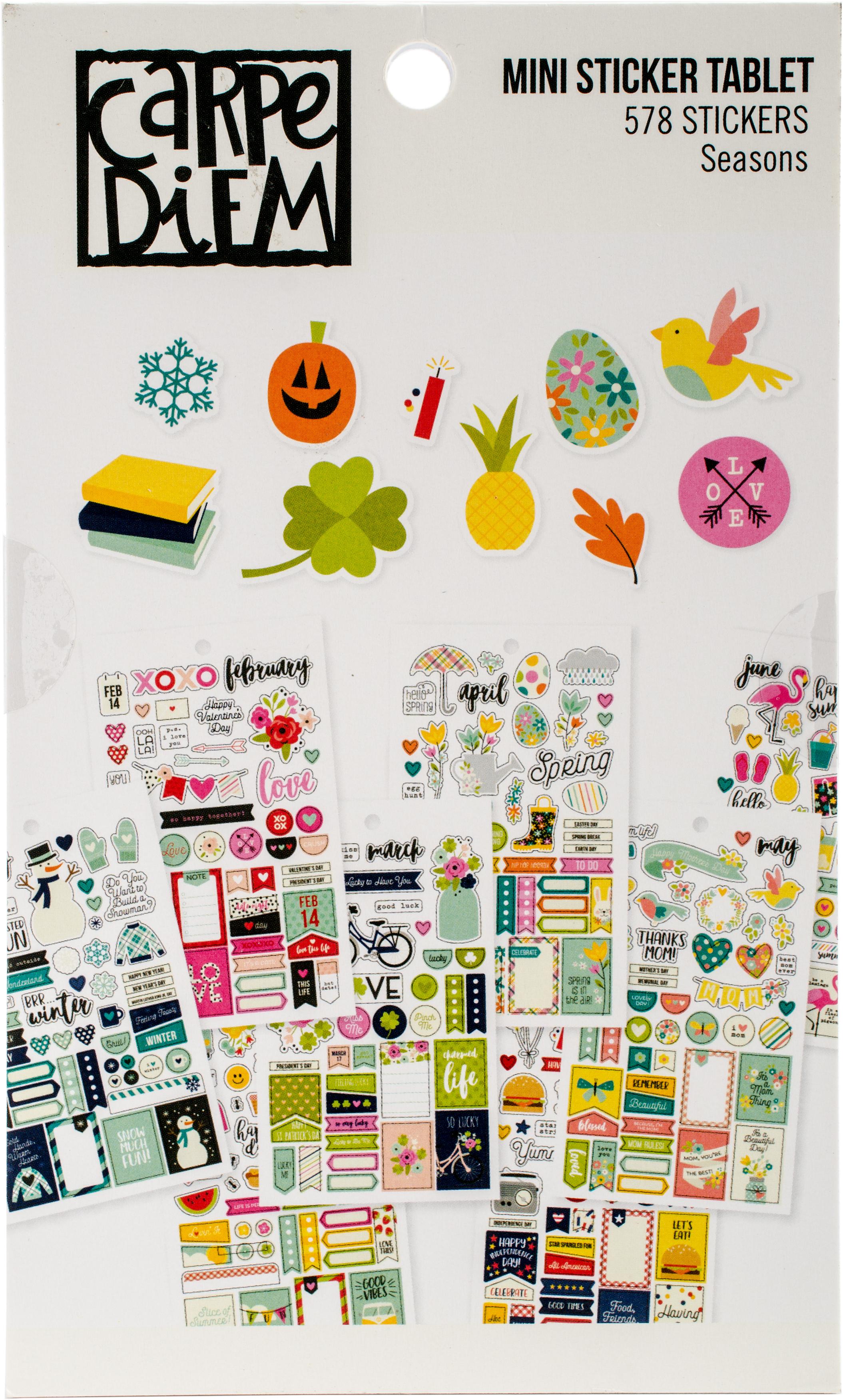 Seasons Mini Sticker Tablet