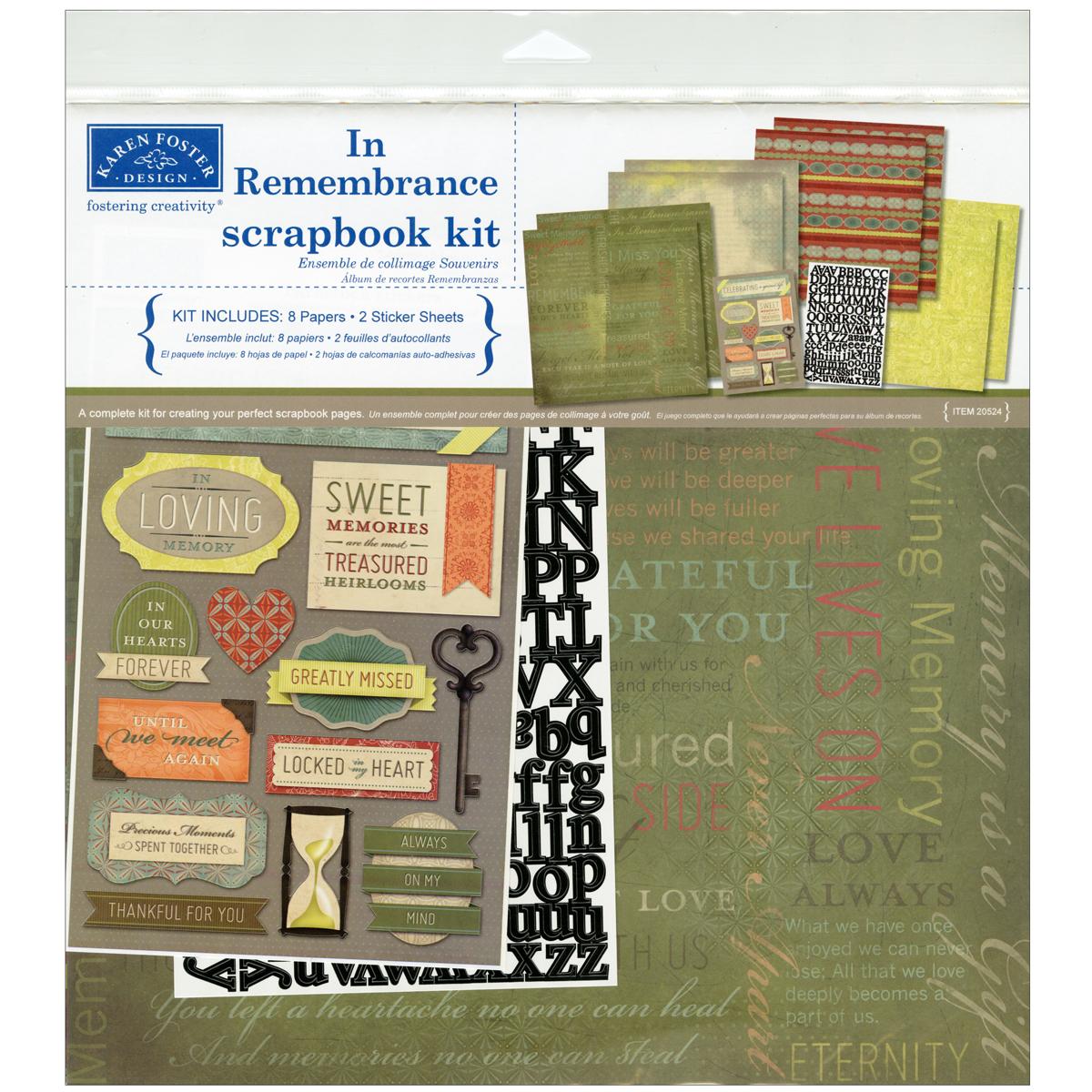 In Remembrance Scrapbook Kit