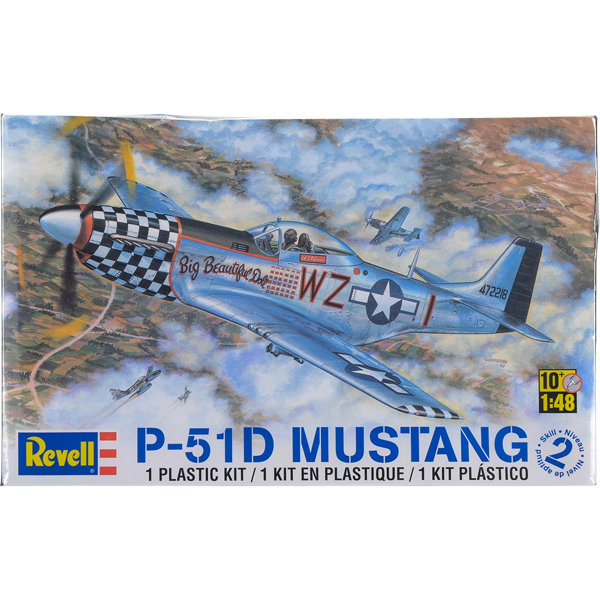 Plastic Model Kit-P-51D Mustang 1:48