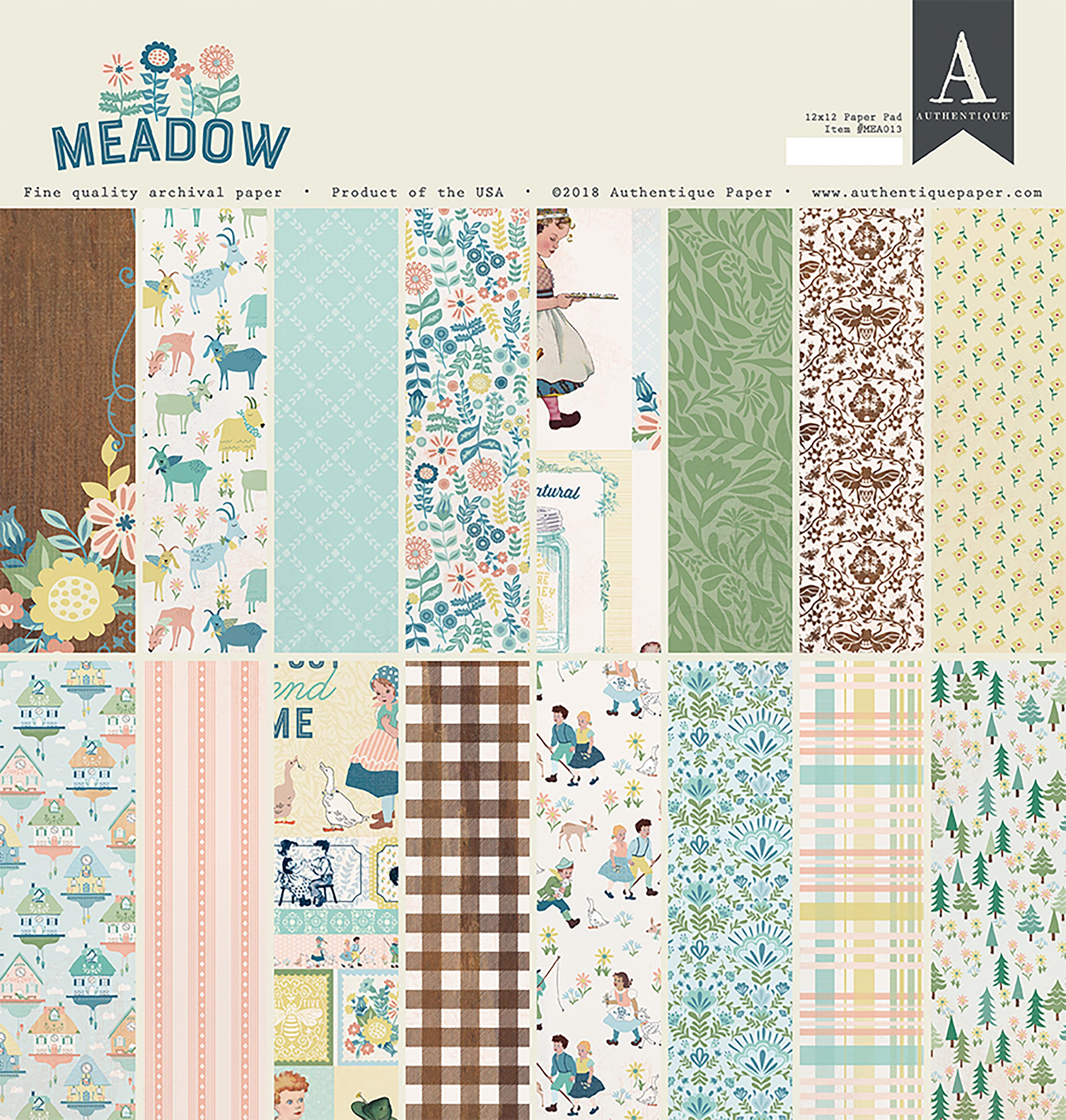 Meadow 12 x 12 Paper Pad