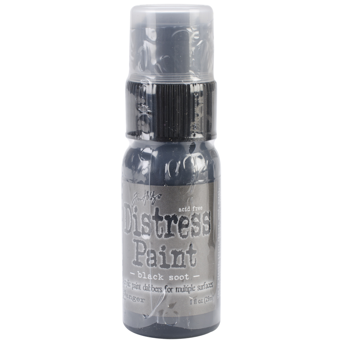 Tim Holtz Distress Paint Dabber 1oz-Black Soot