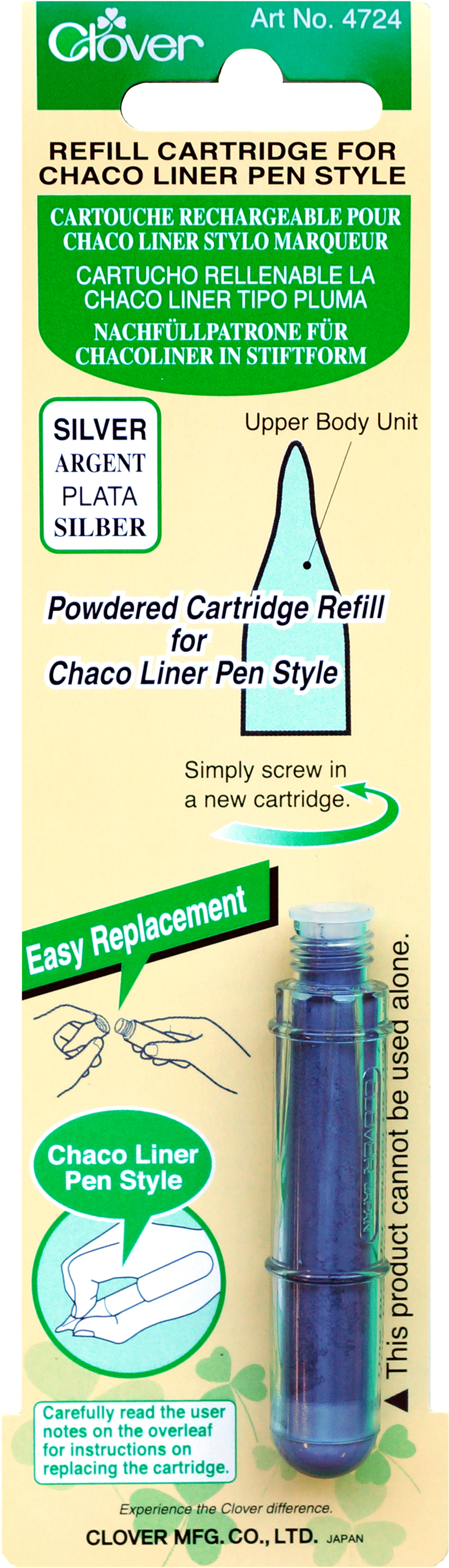 Clover Chaco Liner Refill-Silver