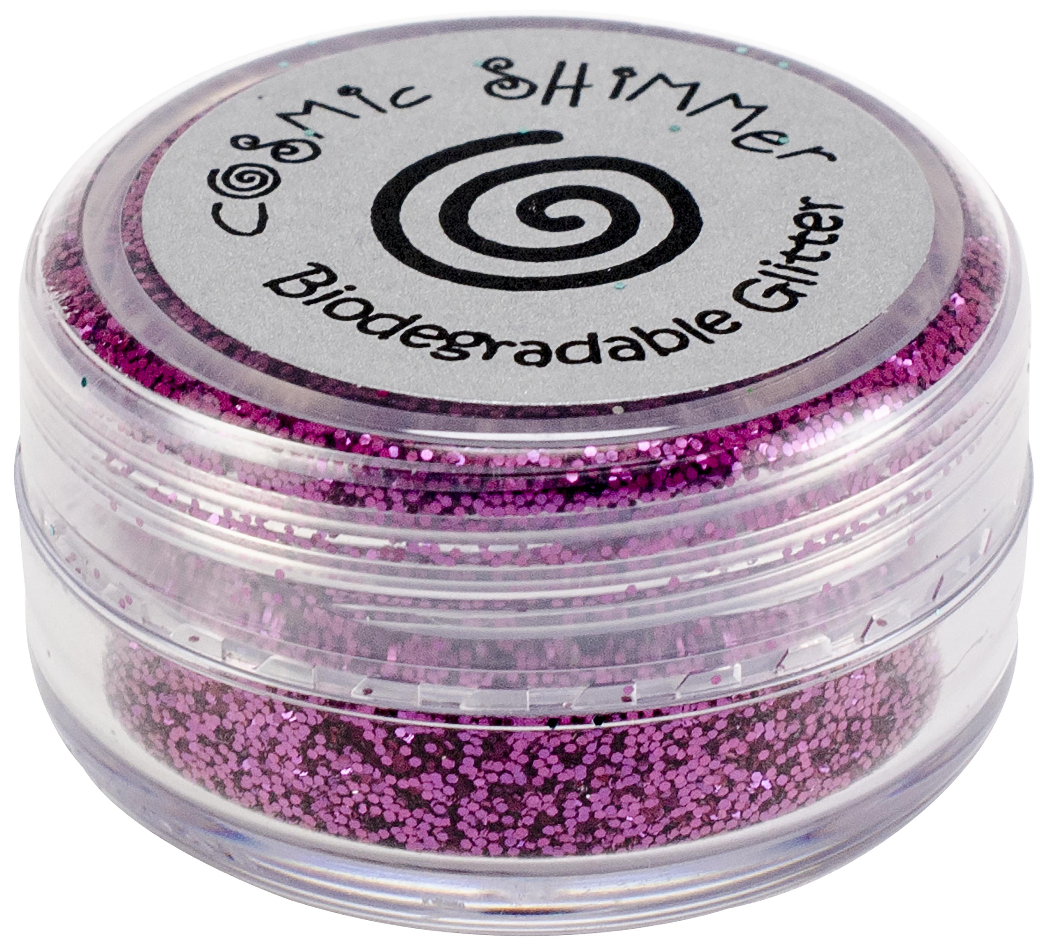 Cosmic Shimmer Biodegradable Glitter 10ml-Wild Plum