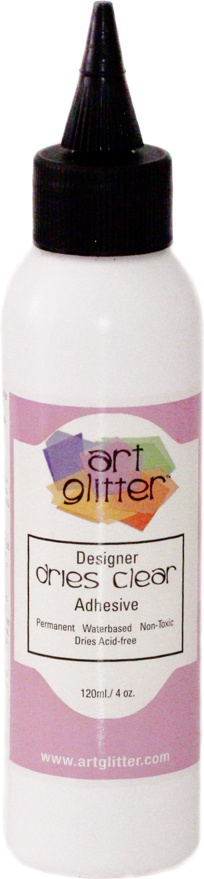 Art Institute Glitter Glue Designer Dries Clr 4oz