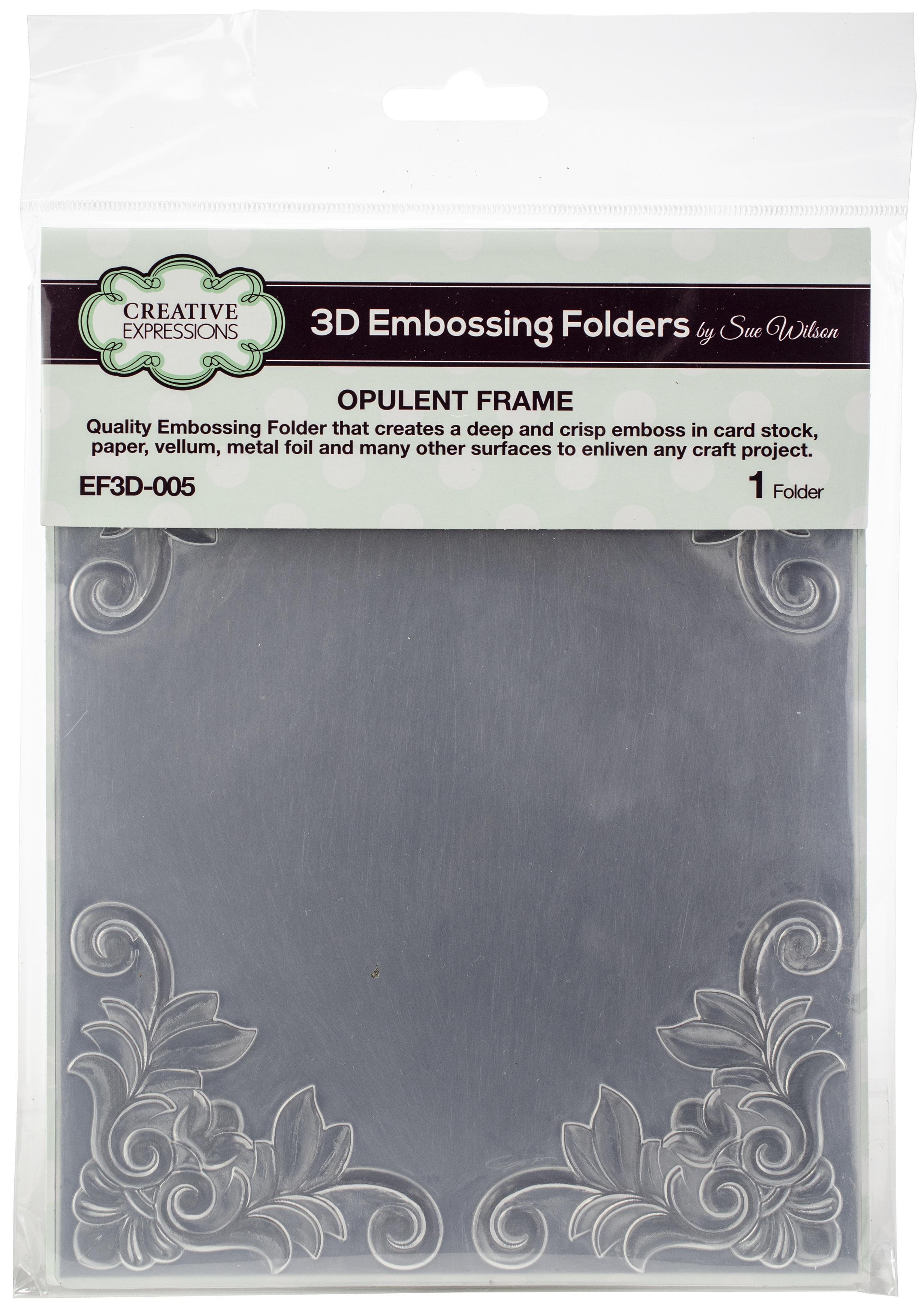Opulent Frame Embossing Folder