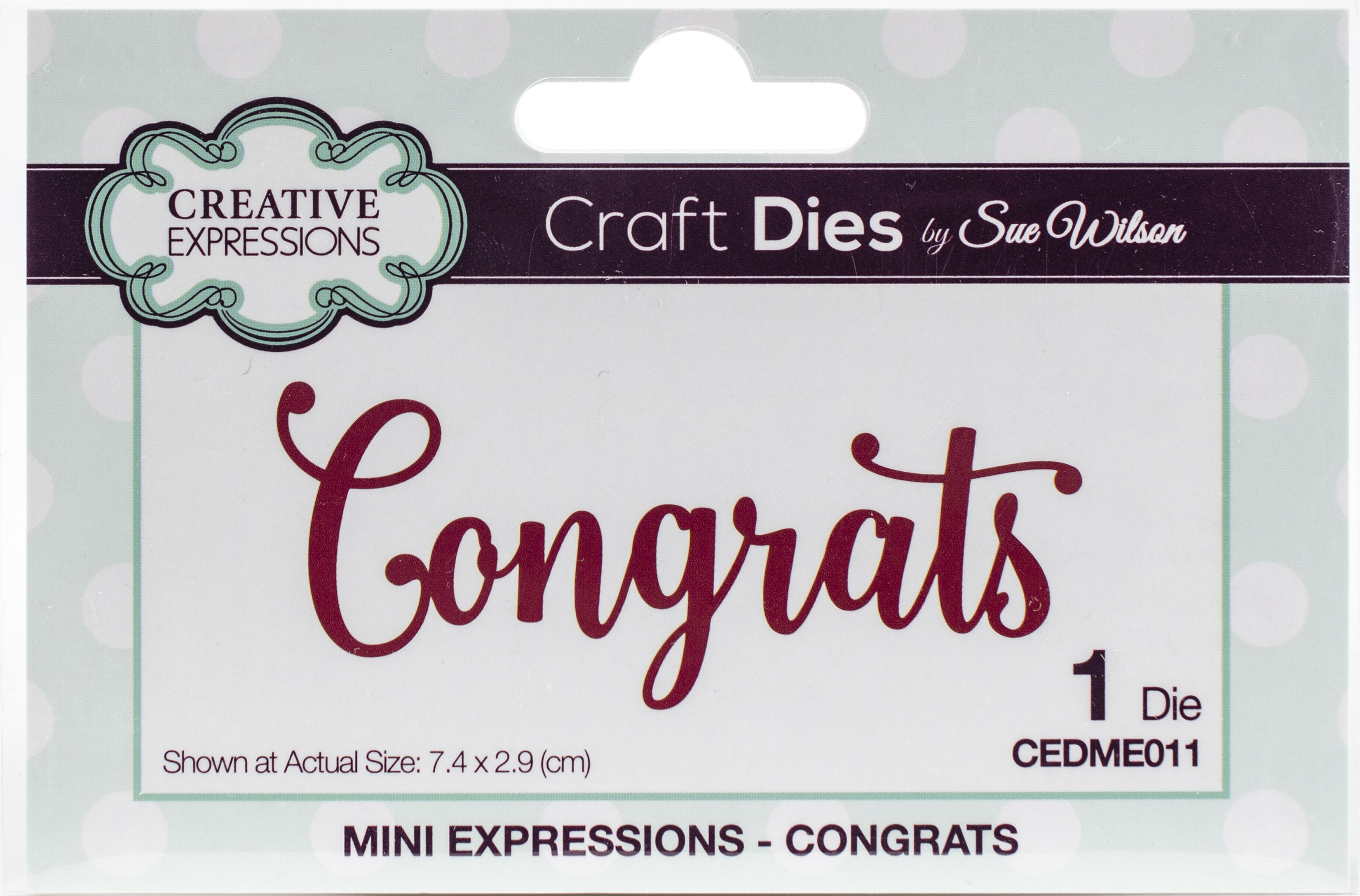 Creative Expressions Craft Dies By Sue Wilson-Congrats