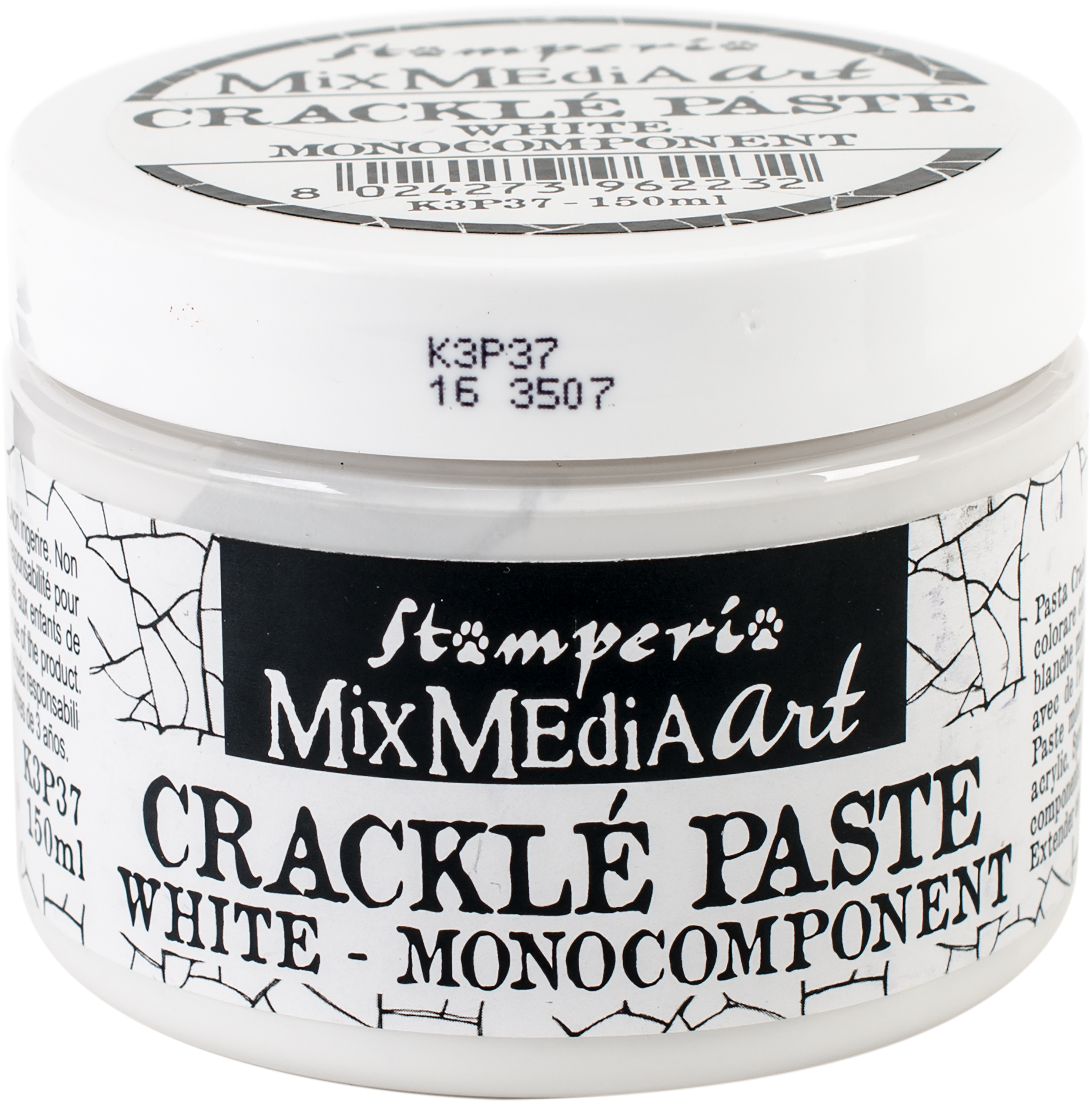 Stamperia Crackle Paste White 150ml-
