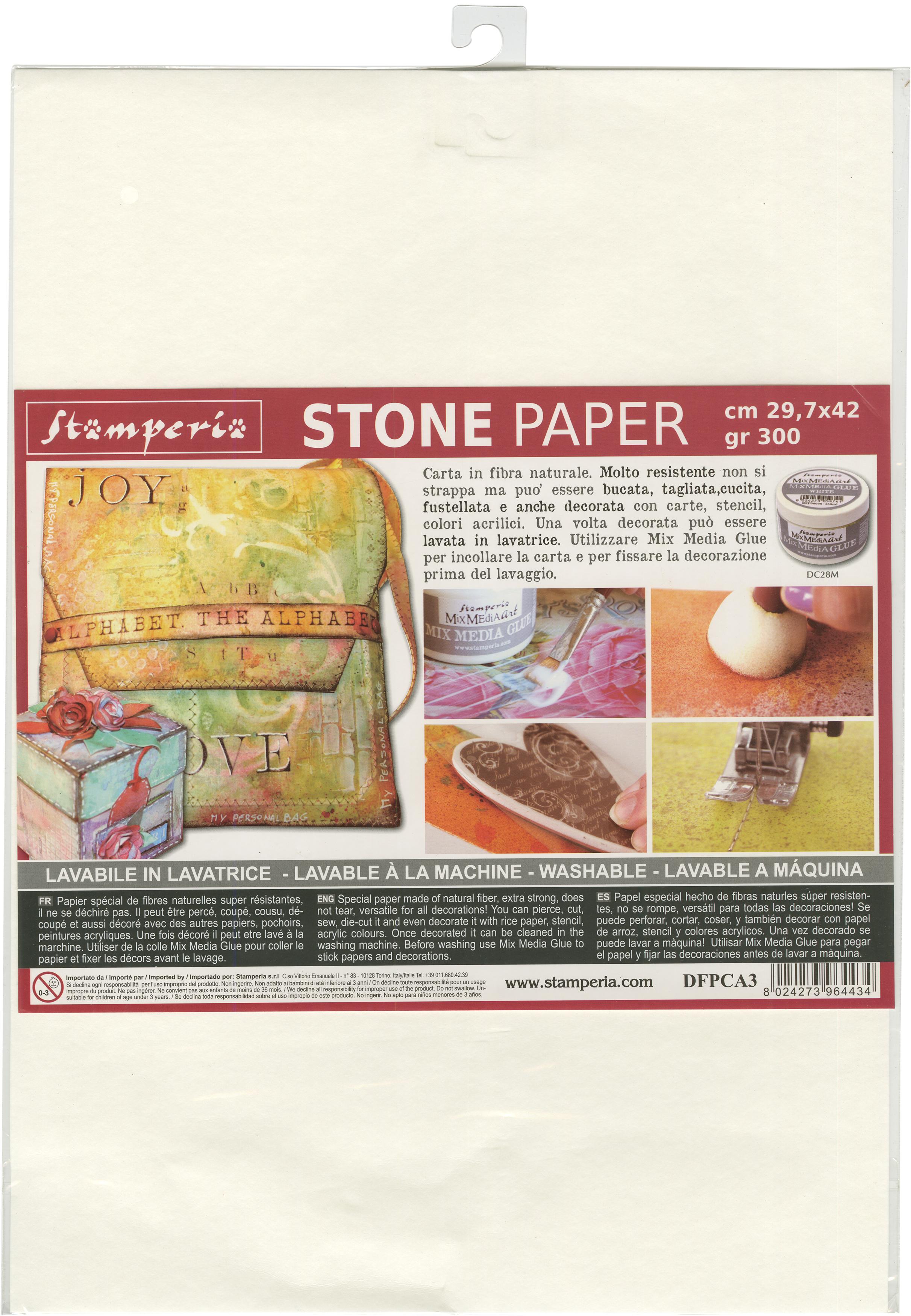 Stamperia Washable Stone Paper  11.6X16.5-