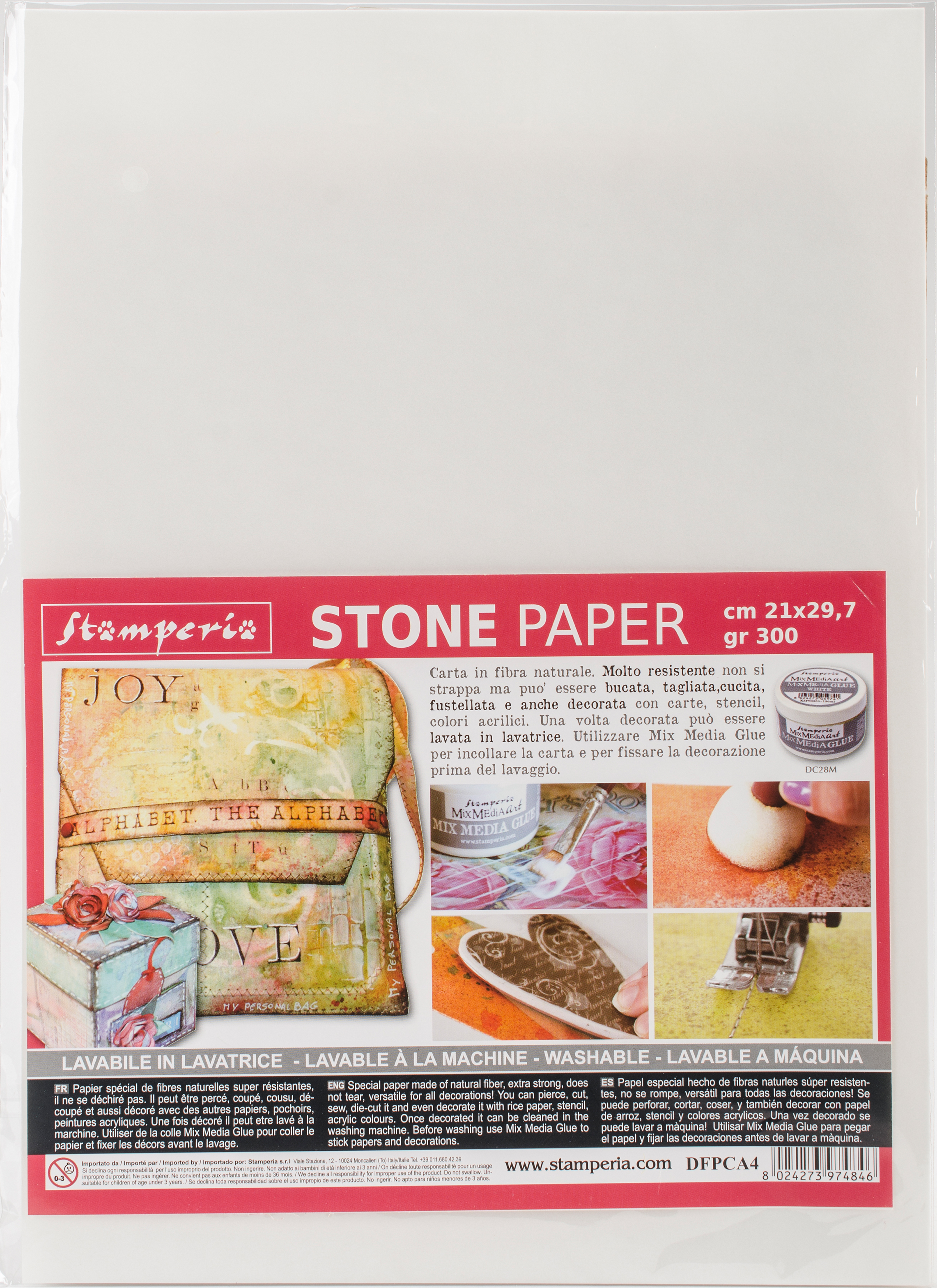 Stamperia Washable Stone Paper 8.25X11.6-