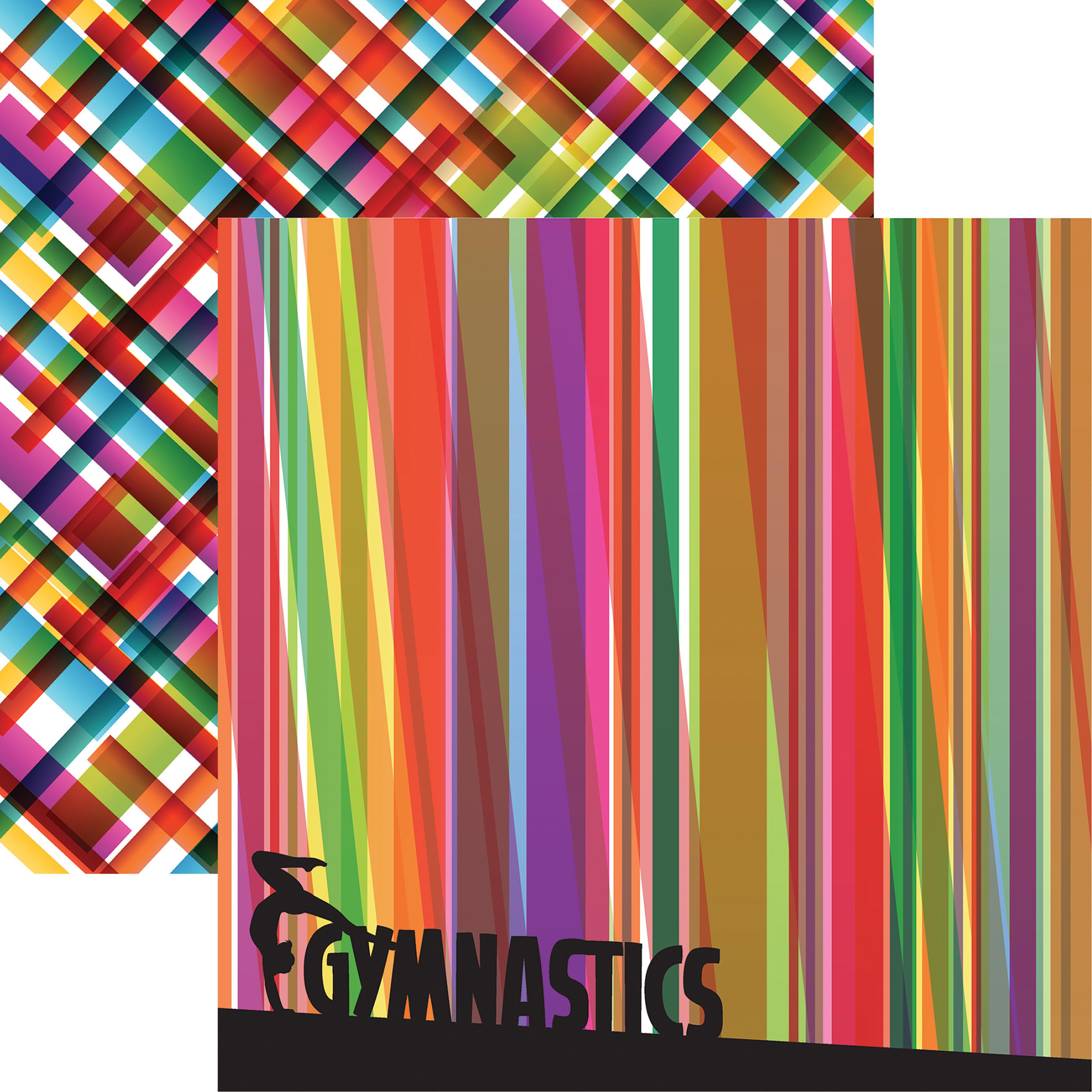 Reminisce Gymnastics Double-Sided Cardstock 12x12- Gymnastics