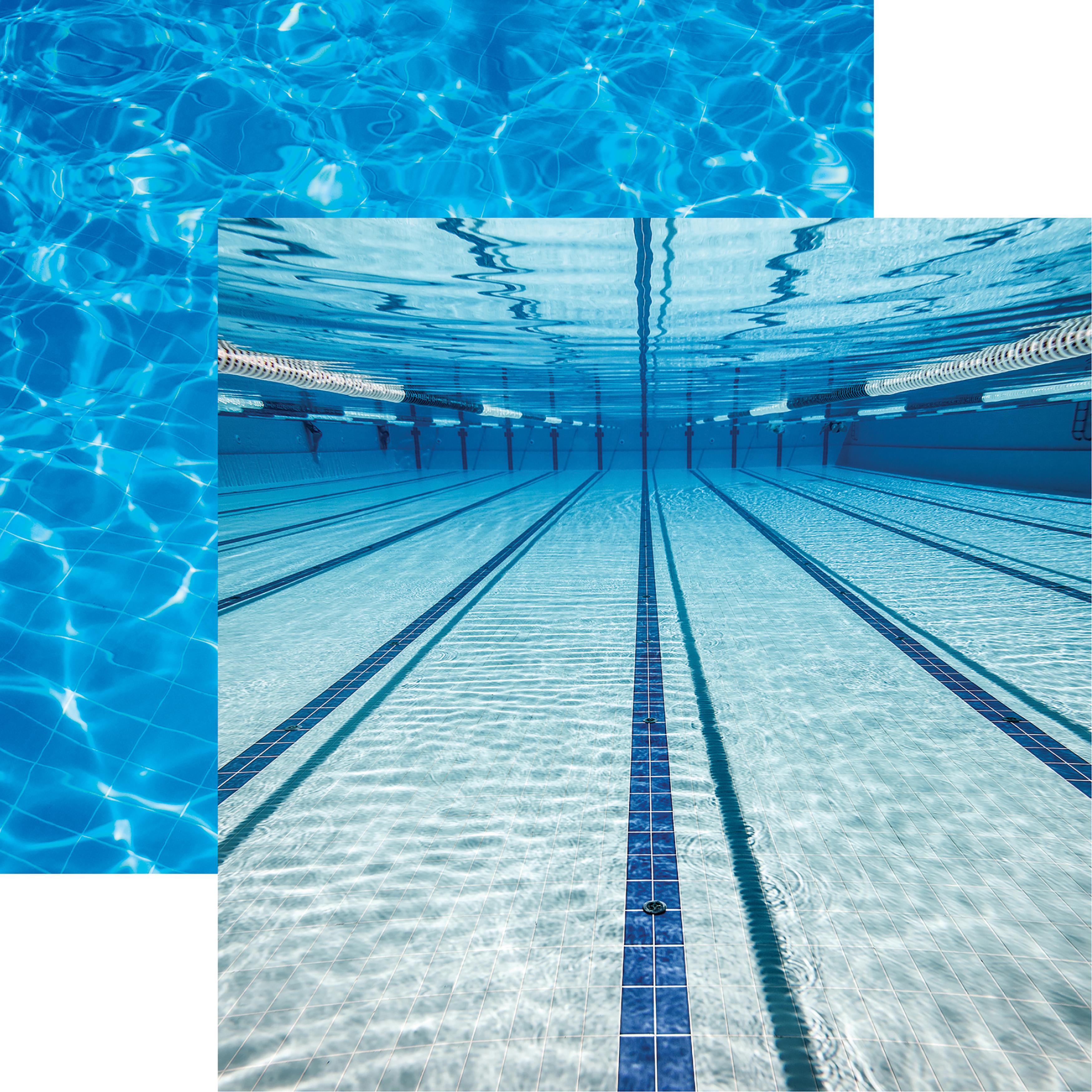 Reminisce swim team under water
