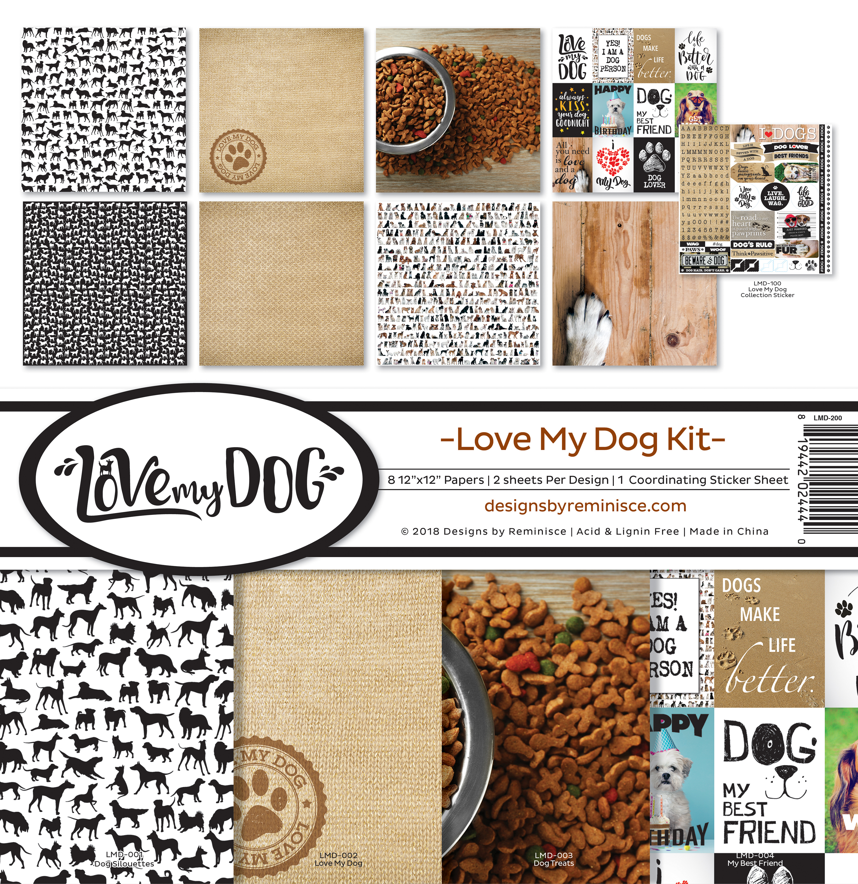 Love my Dog - Reminisce Collection Kit 12X12