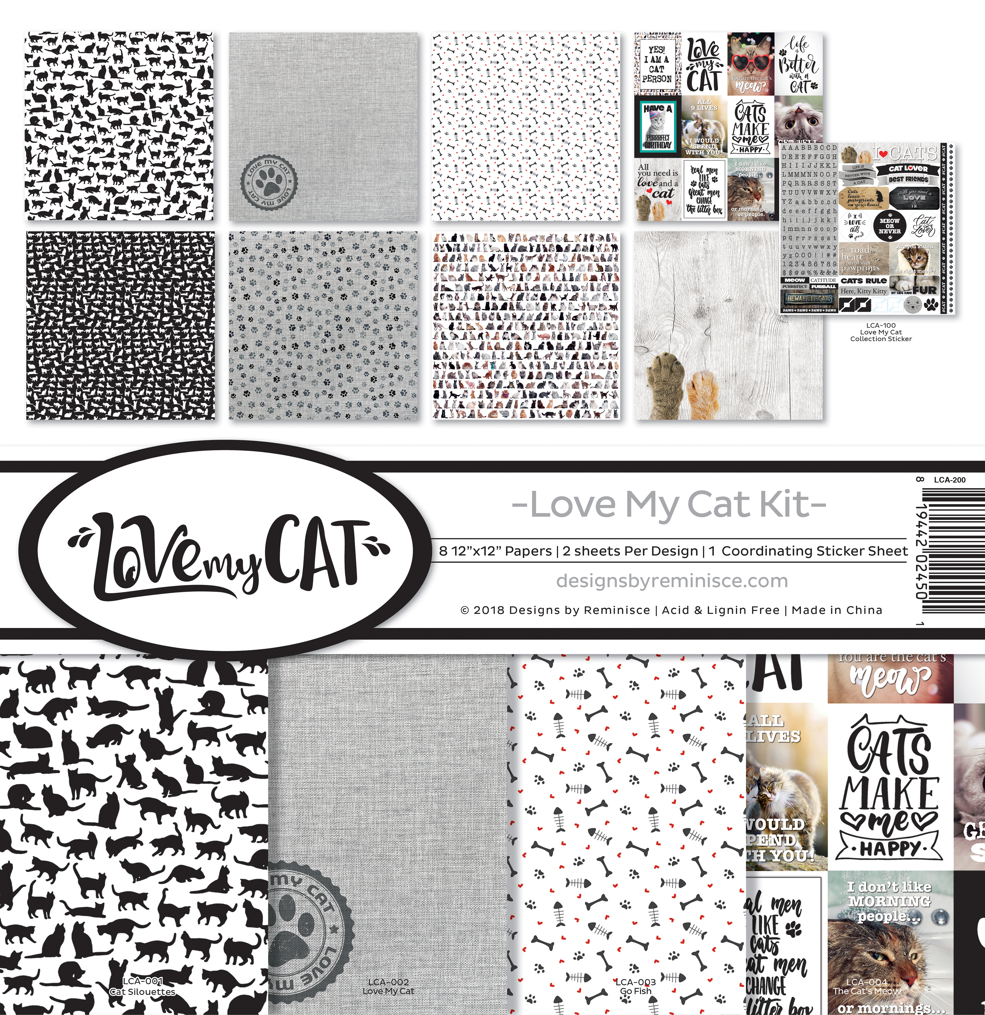 Love my Cat - Reminisce Collection Kit 12X12