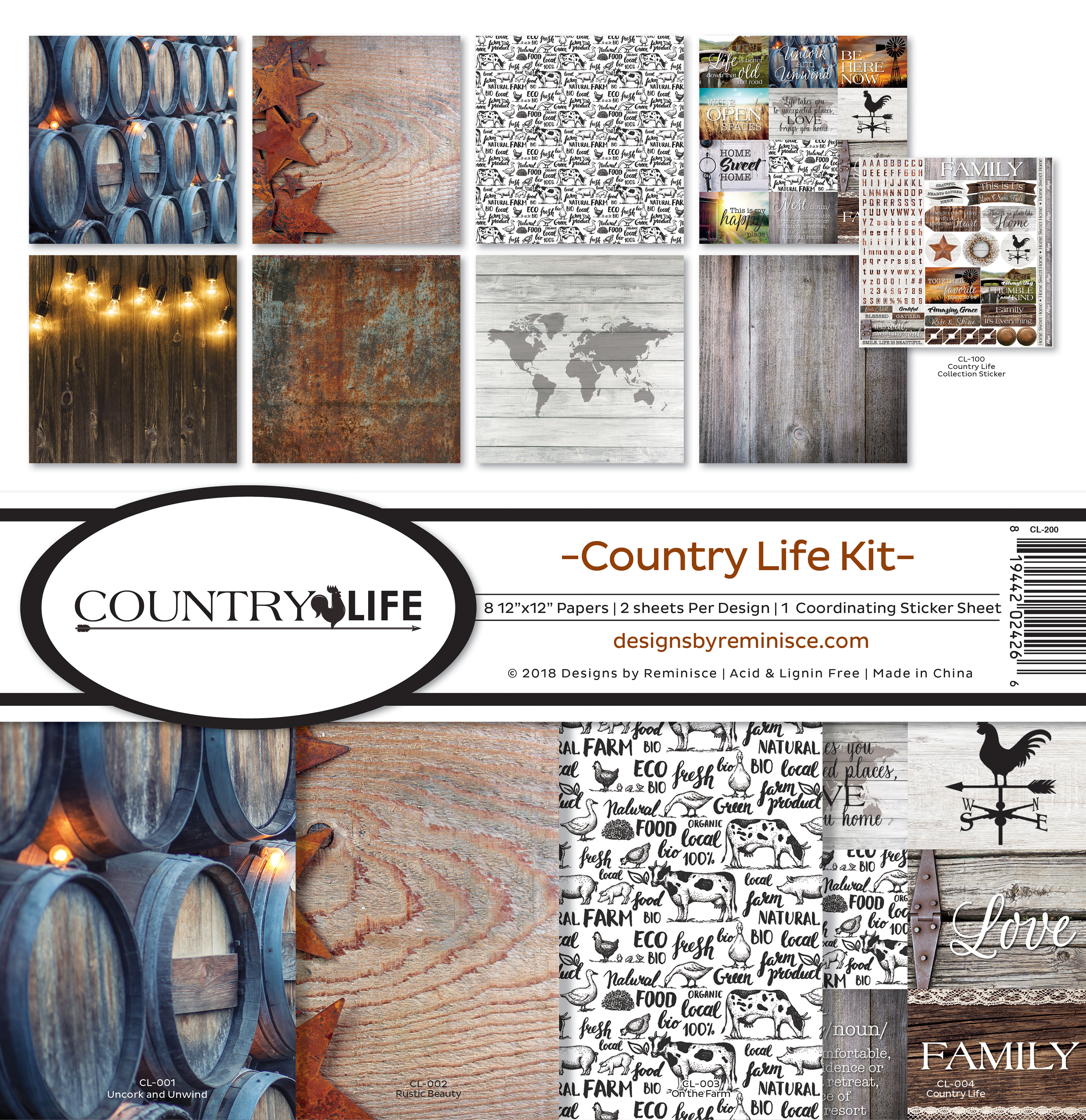 Country Life Reminisce Collection Kit 12X12