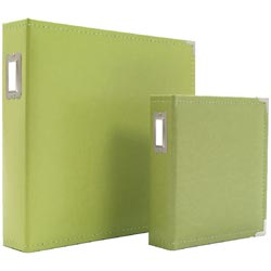 Green 6X8 Leather Binder