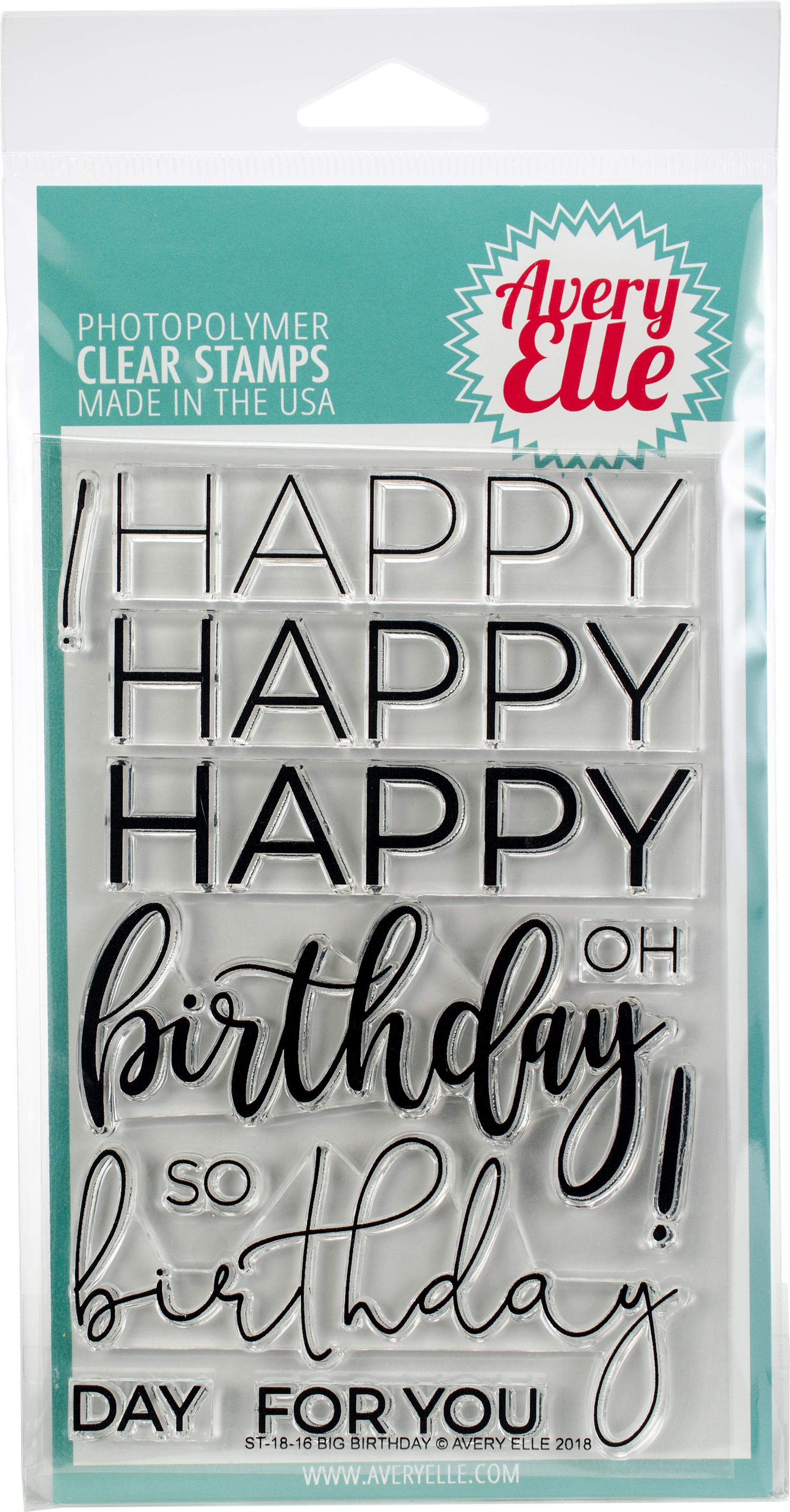 Avery Elle Clear Stamp Set - Big Birthday