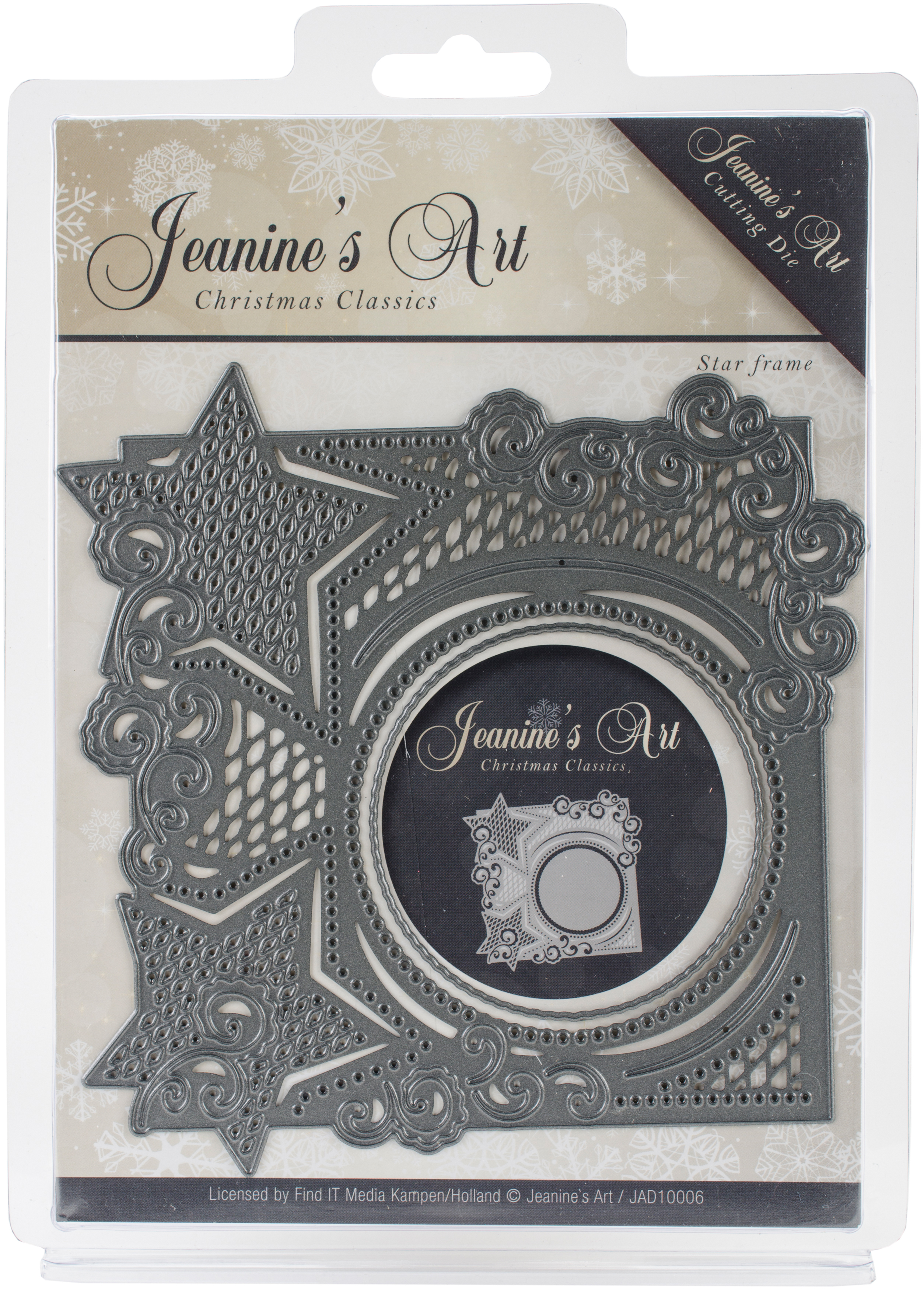 Find It Trading Jeanine's Art Die-Star Frame, Christmas Classics