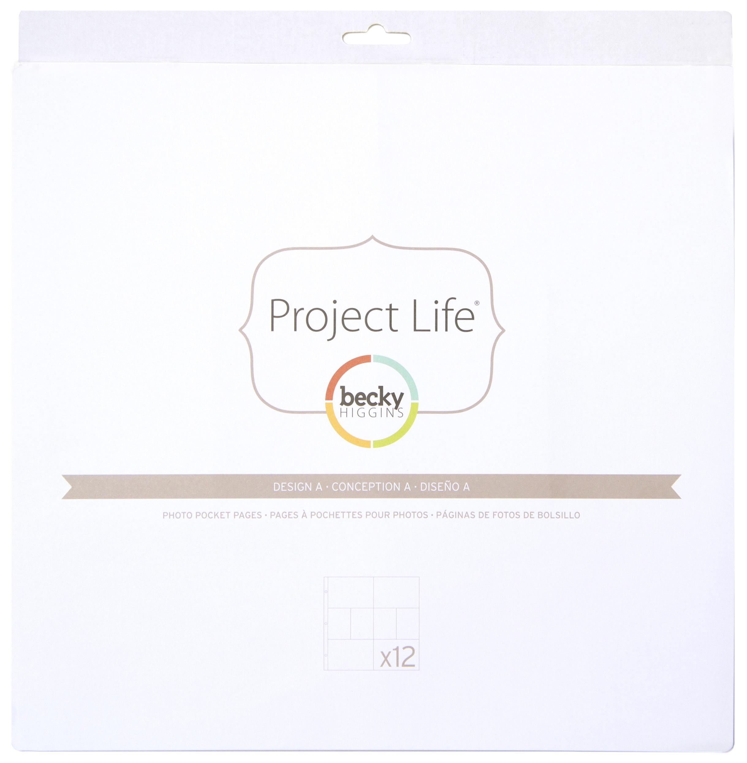 Project Life Photo Pocket Pages 12/Pkg-Design A