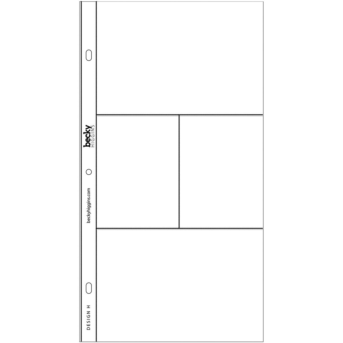 Project Life Photo Pocket Pages 12/Pkg-Design H