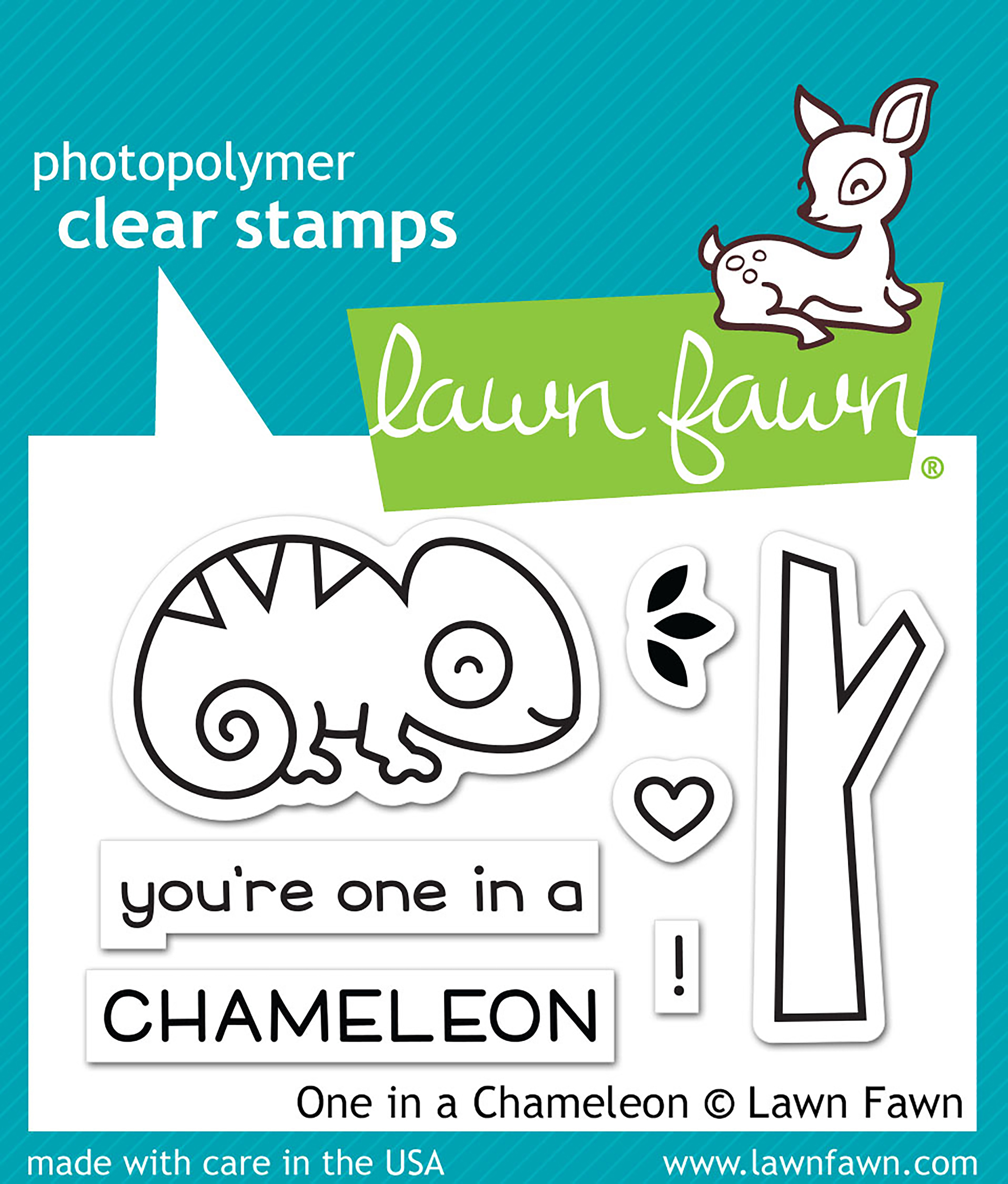CHAMELEON -LAWN FAWN CLR STAMP