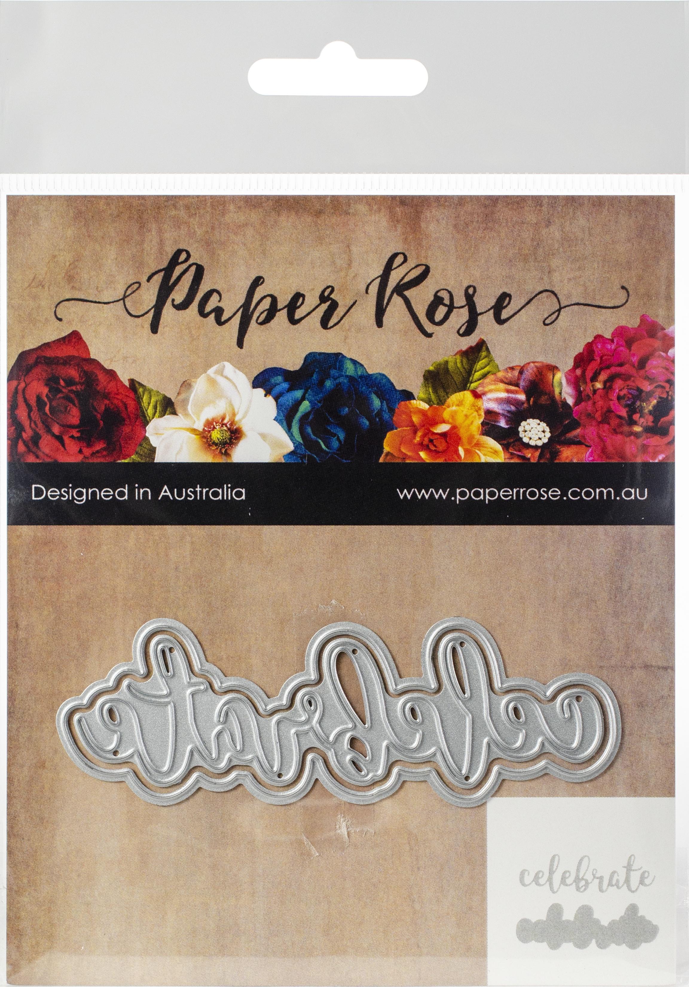 Paper Roses Celebrate Die
