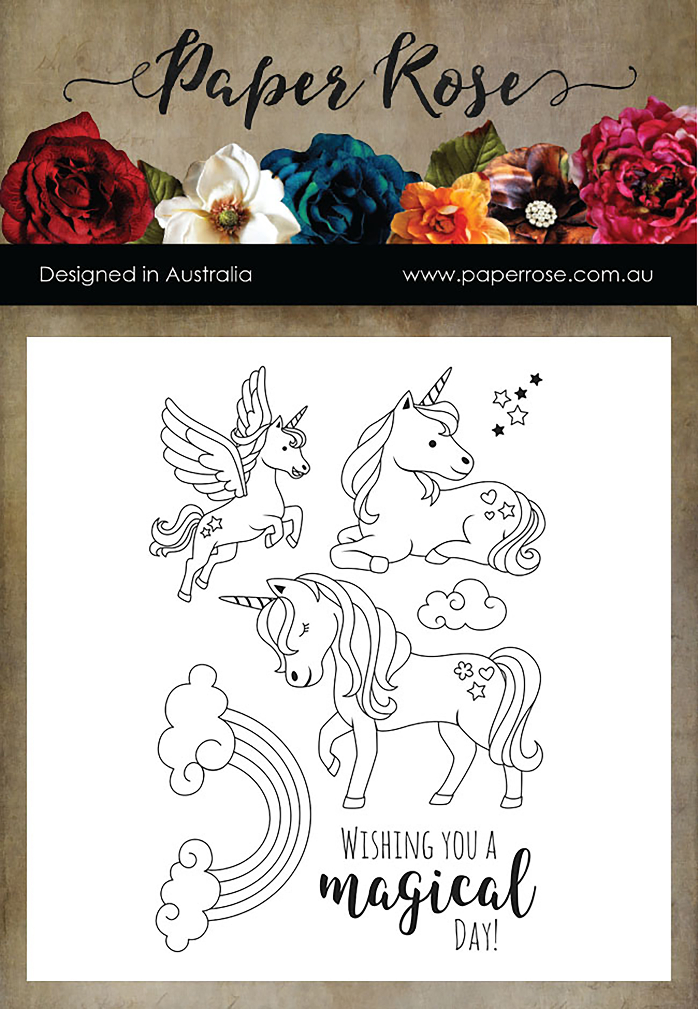 Paper Rose Clear Stamps-Unicorn Magic