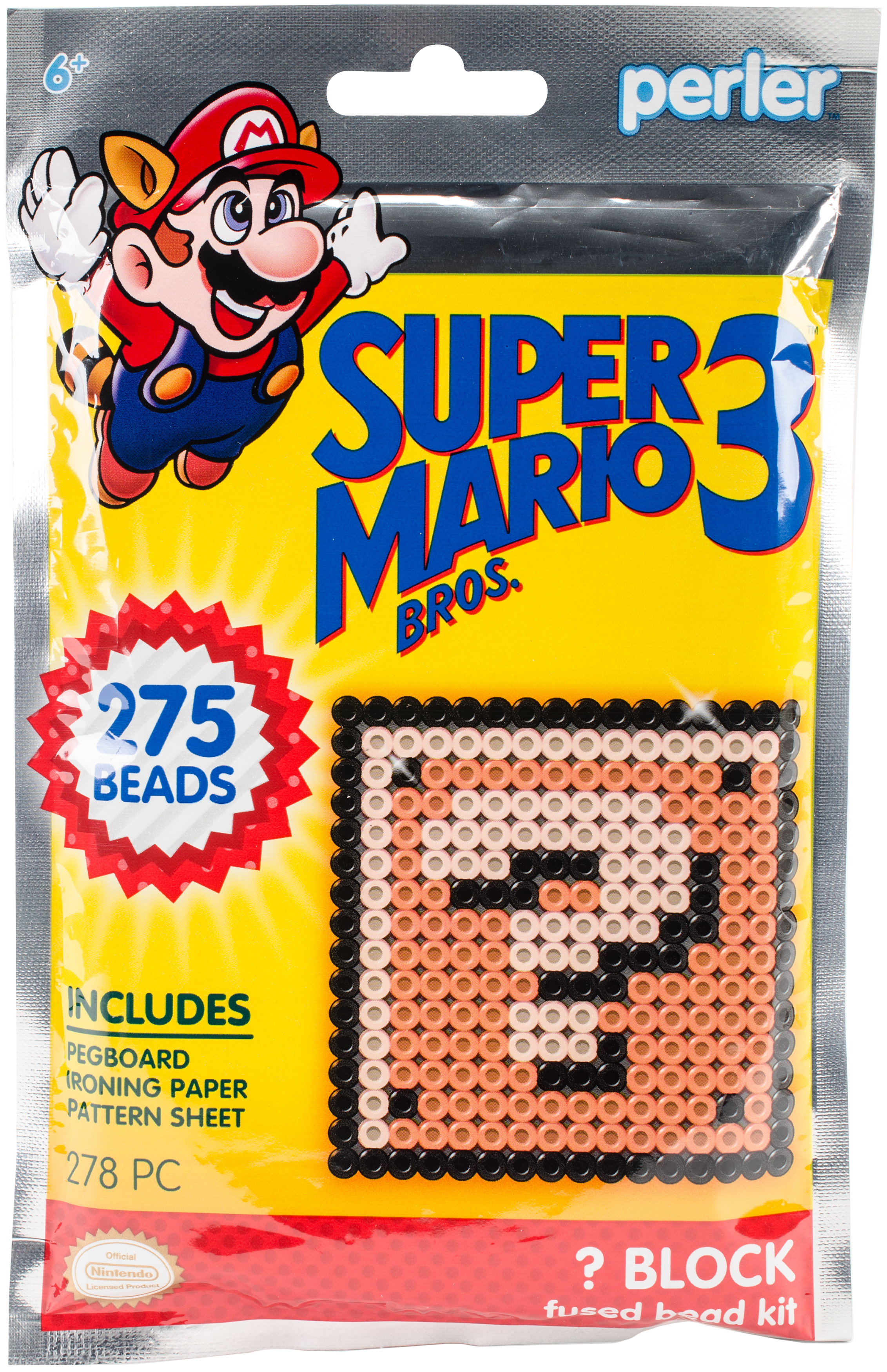 Perler Fused Bead Trial Kit-Super Mario Bros. 3 Coin Box