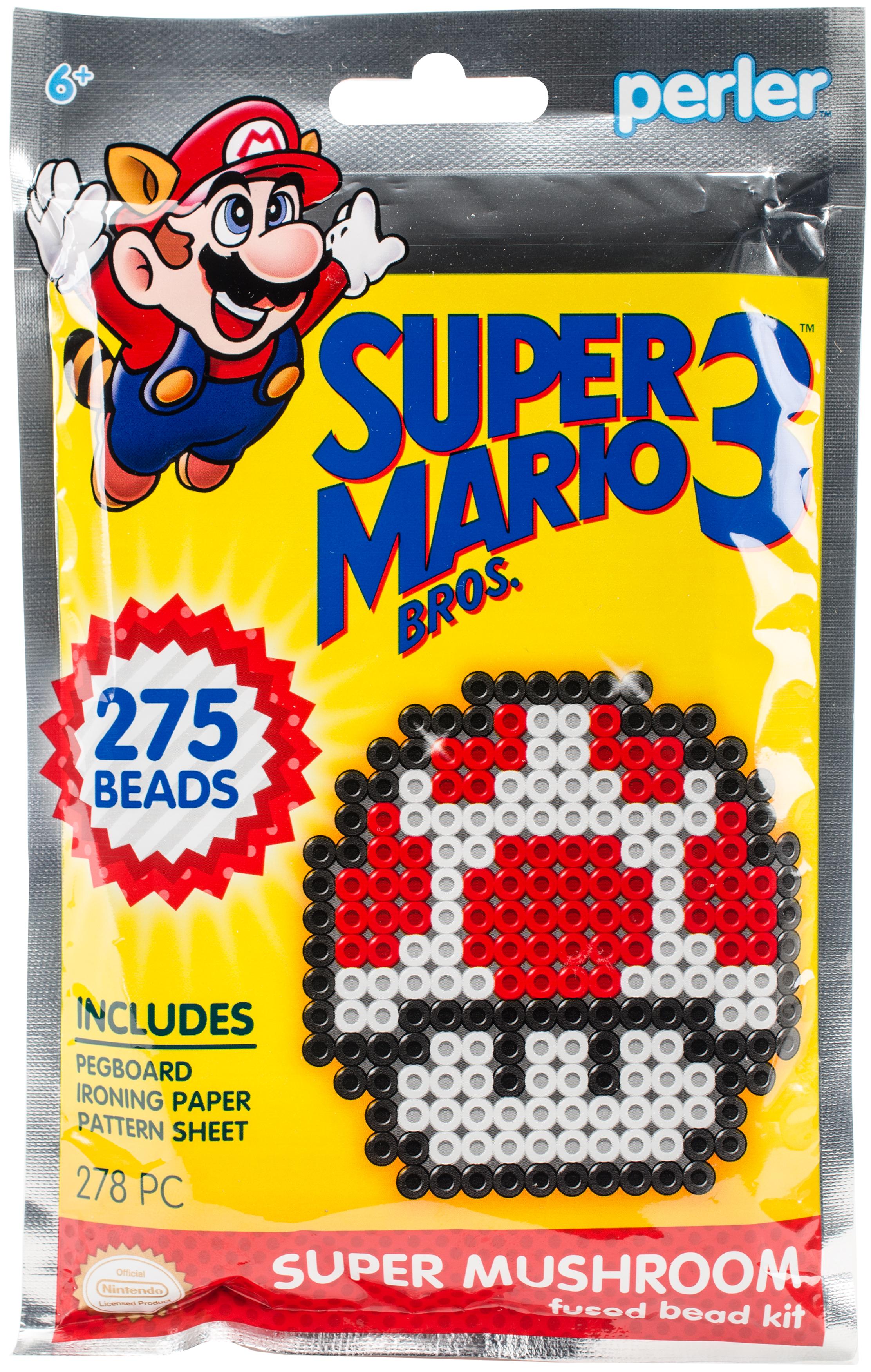 Perler Fused Bead Trial Kit-Super Mario Bros. 3 Super Mushroom