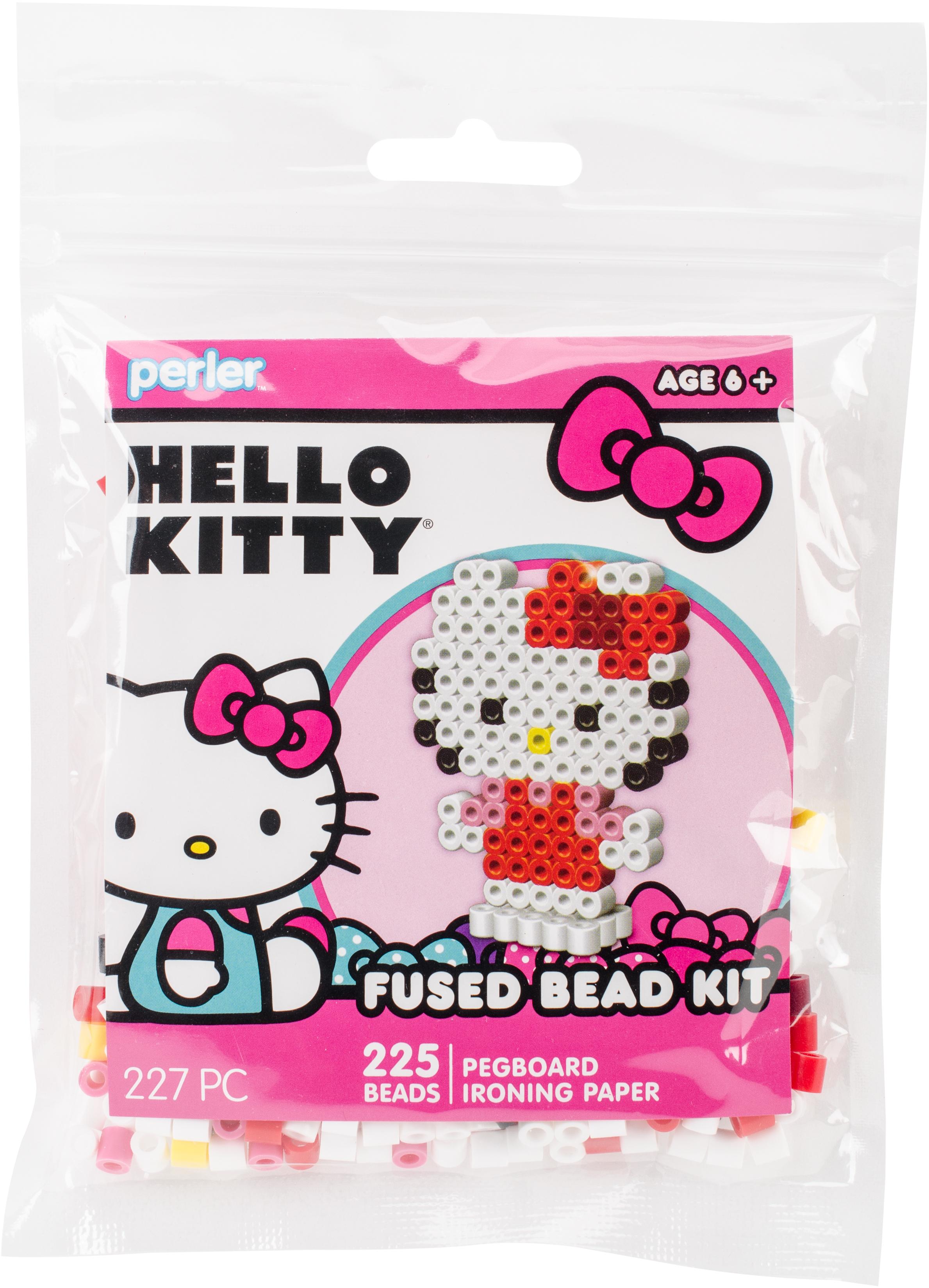 Perler Fused Bead Trial Kit-Hello Kitty 3D