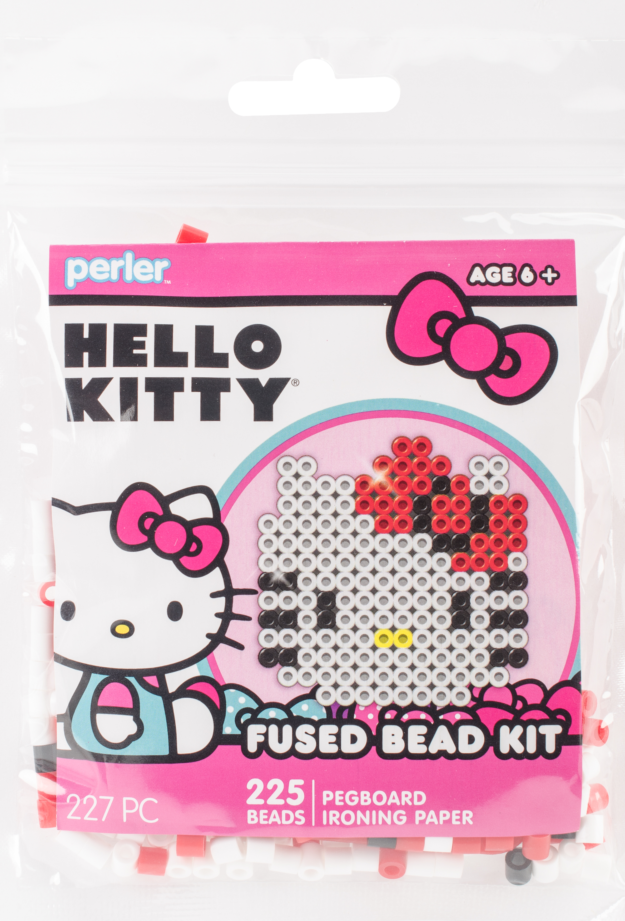 Perler Fused Bead Trial Kit-Hello Kitty Face