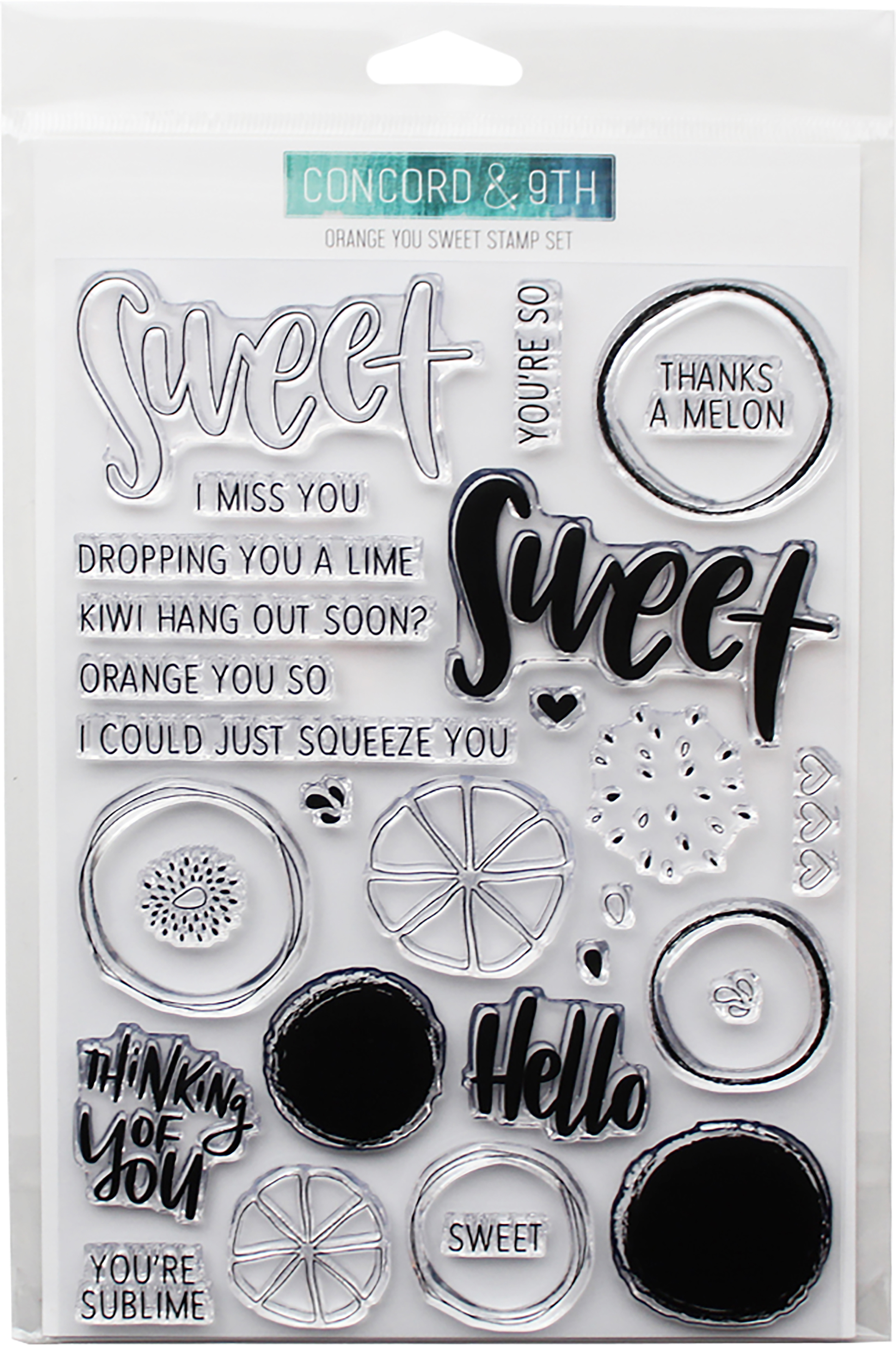 Concord & 9th Clear Stamps 6X8-Orange You Sweet