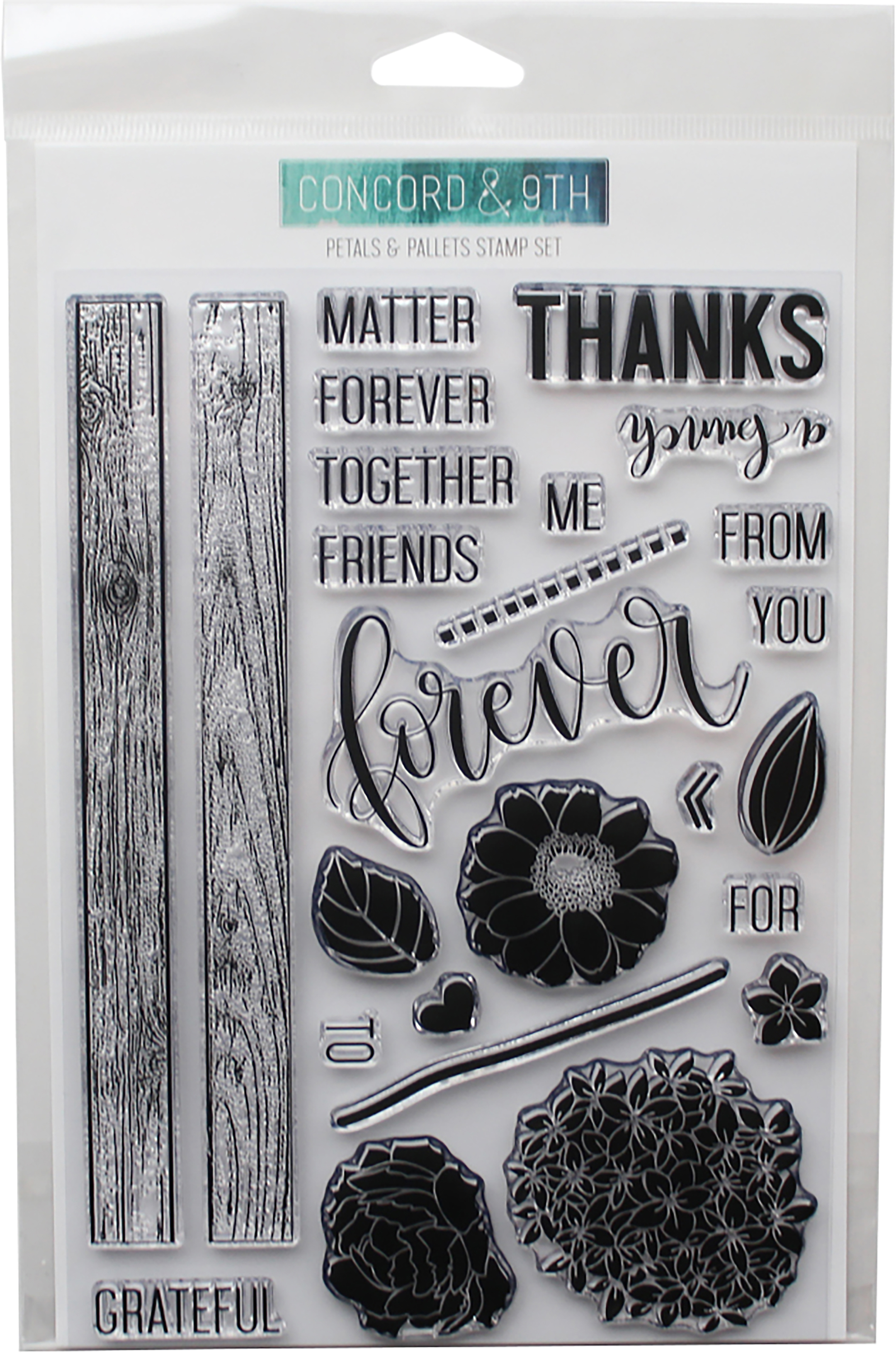 Concord & 9th Clear Stamps 6X8-Petals & Pallets