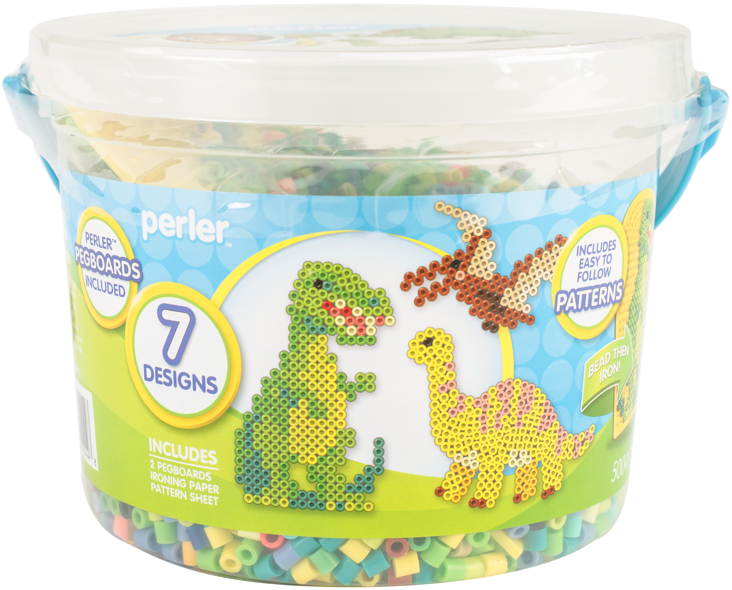 Perler Fused Bead Bucket Kit-Dinosaur