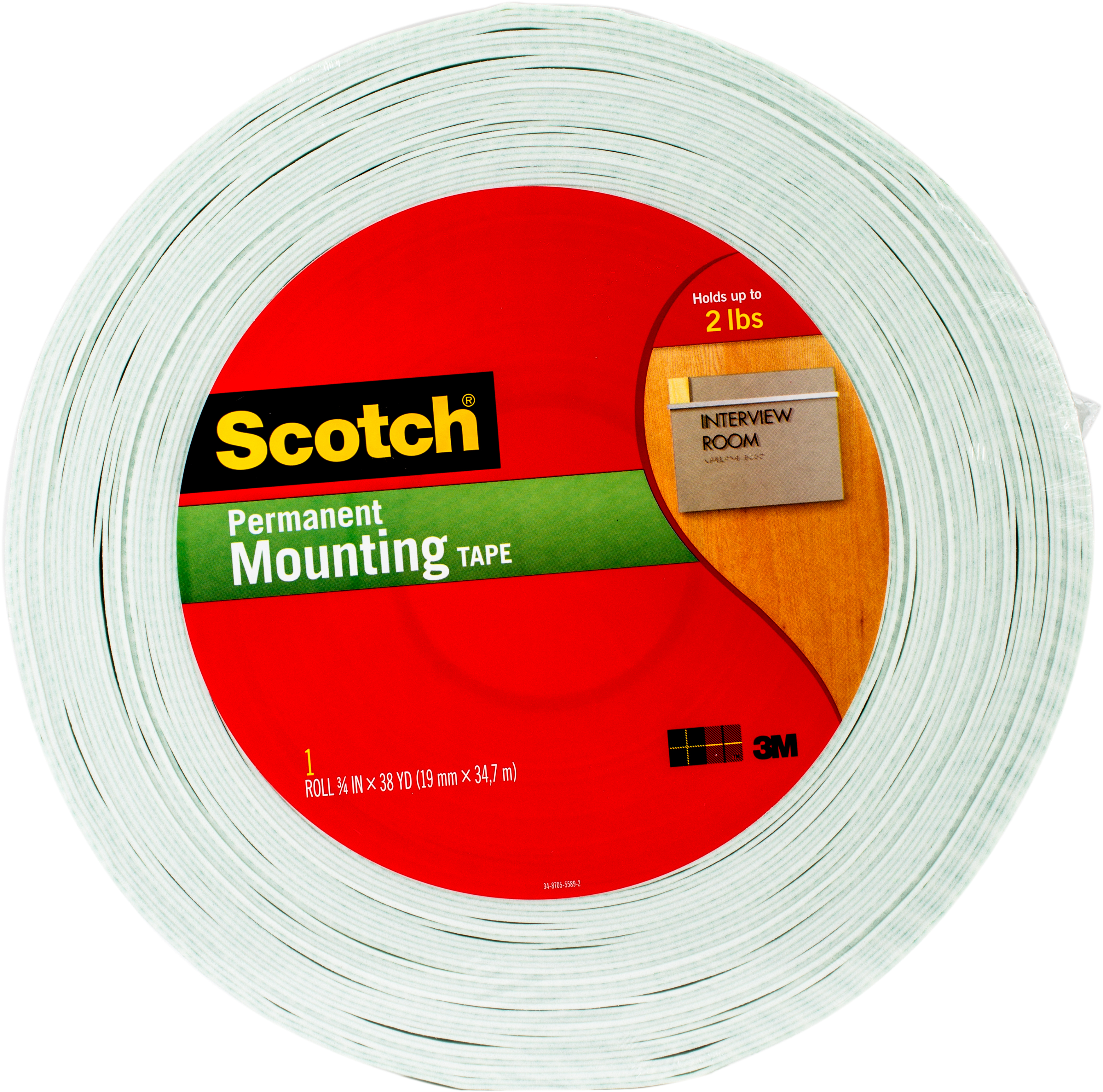 3M - Scotch(R) Double-Sided Foam Mounting Tape - .75X38yd
