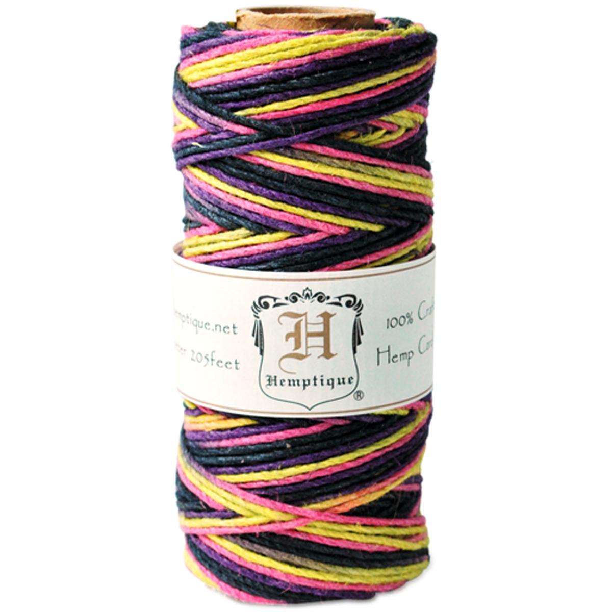 Hemptique Hemp Variegated Cord Spool 20lb 205'-Earthy