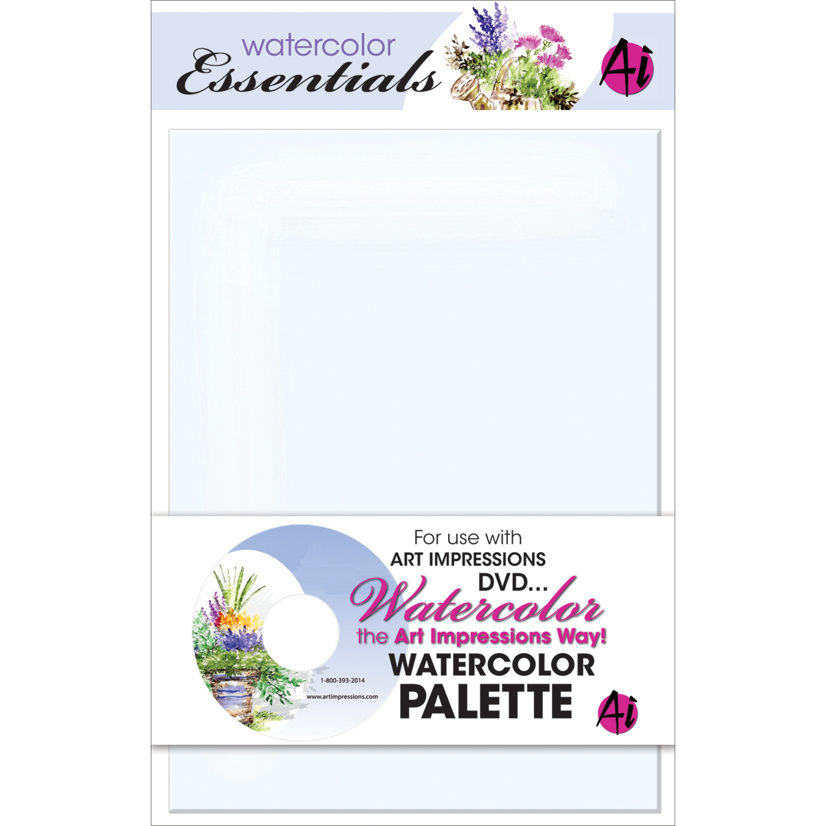 Art Impressions Watercolor Palette 5.75X7.75-