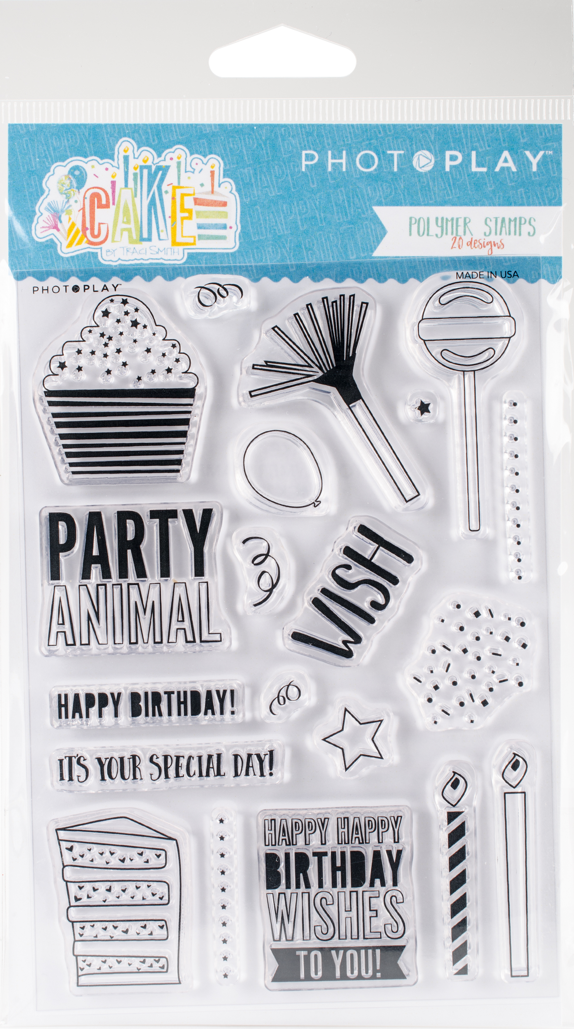 Cake Polymer Stamps-Elements