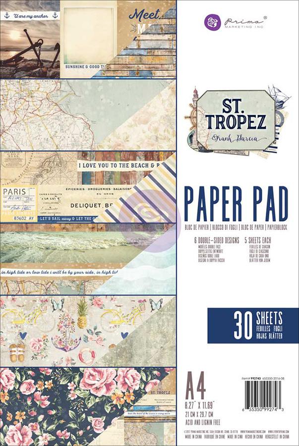 St Tropez Paper Pad A4