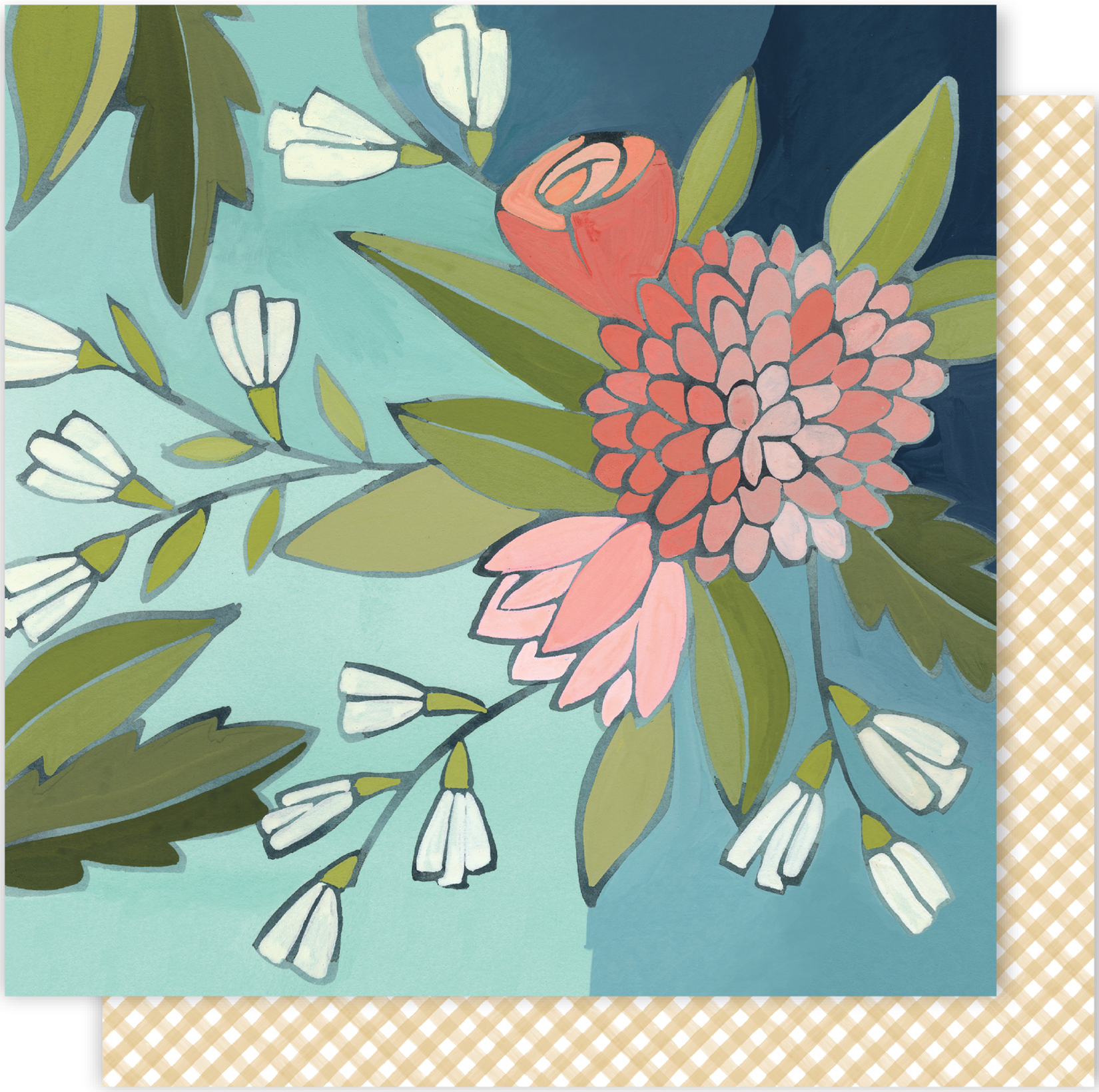 One Canoe Two Creekside Double-Sided Cardstock 12X12-Gathering Flowers