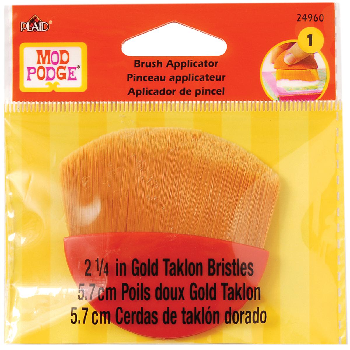 Mod Podge Brush Applicator 2.25-Gold Taklon