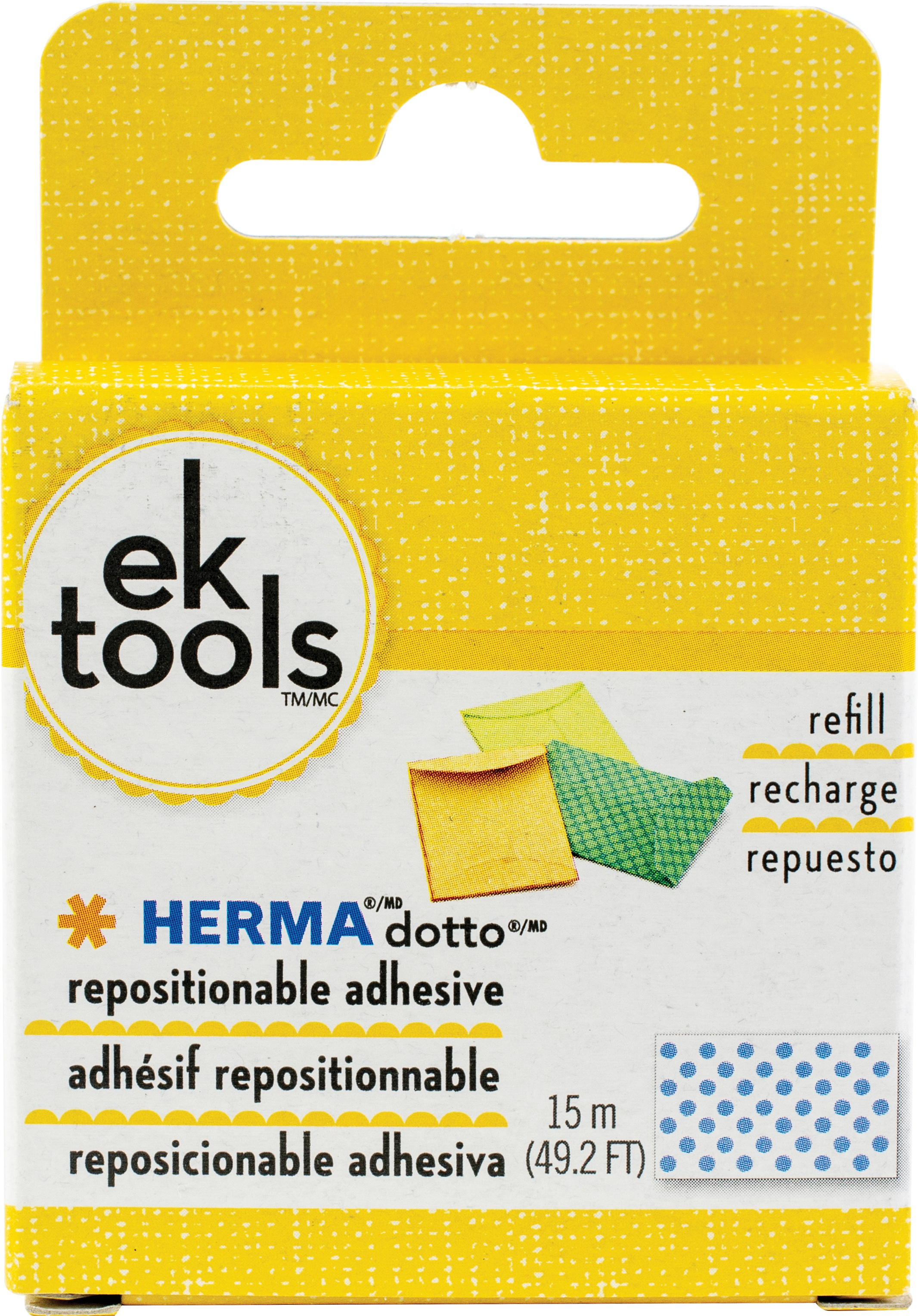 EK Tools HERMA Dotto Repositionable Adhesive Refill-49.2' For Use In 55-00054 & ...