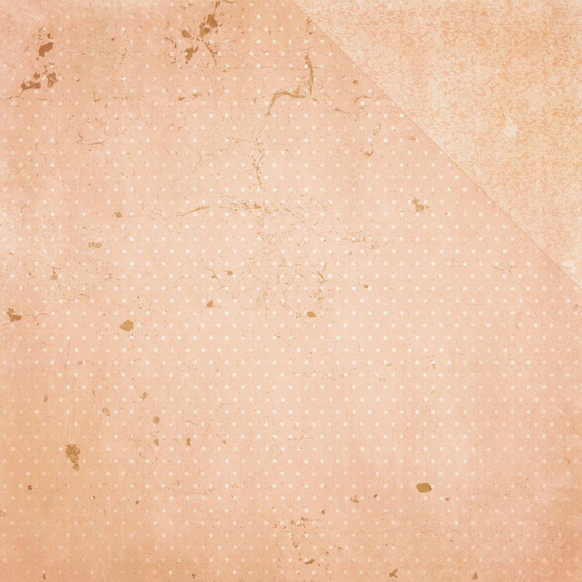 Double Dot Peaches & Cream Vintage Cardstock